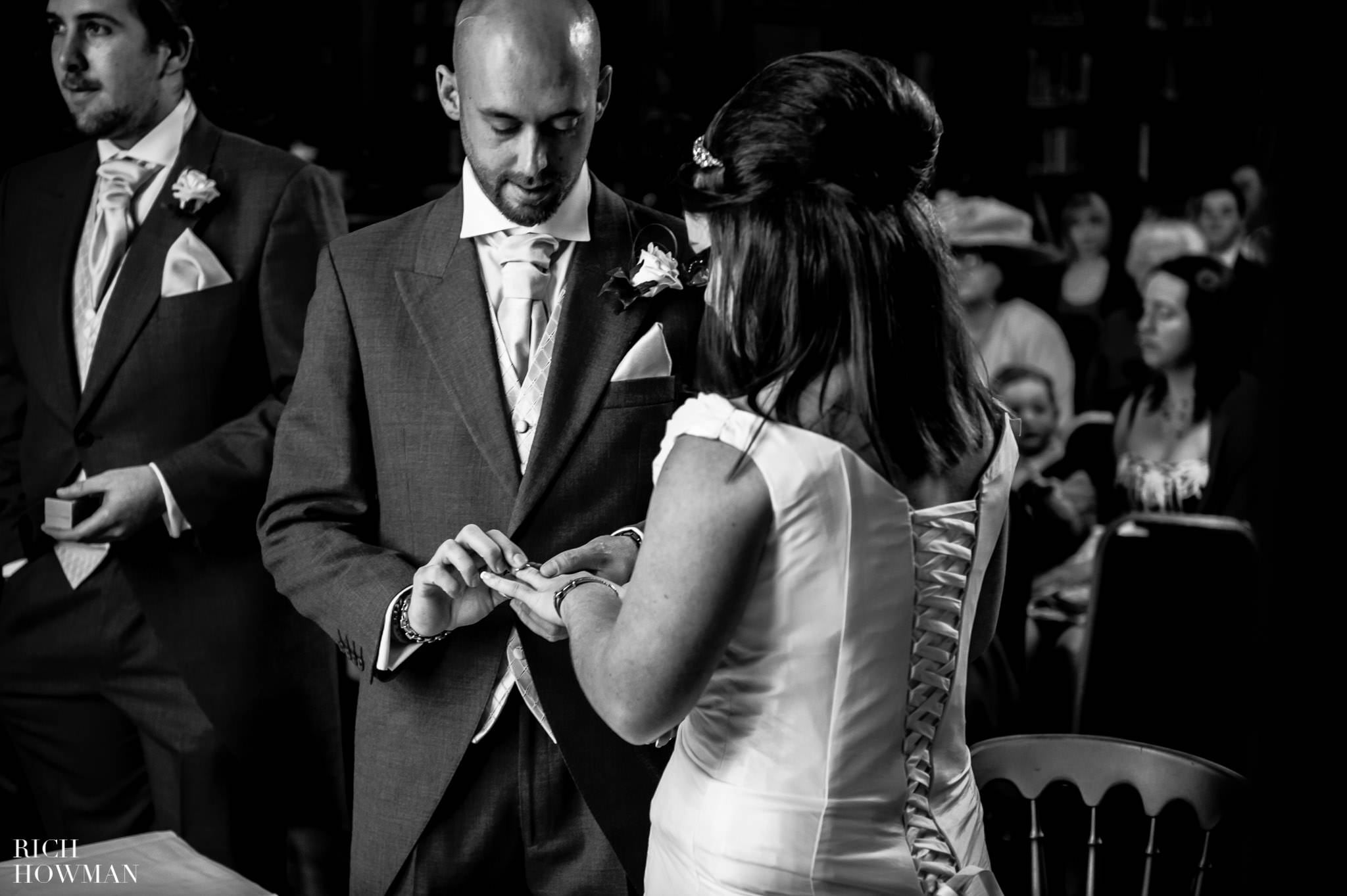 Grittleton House Wedding in the snow 8