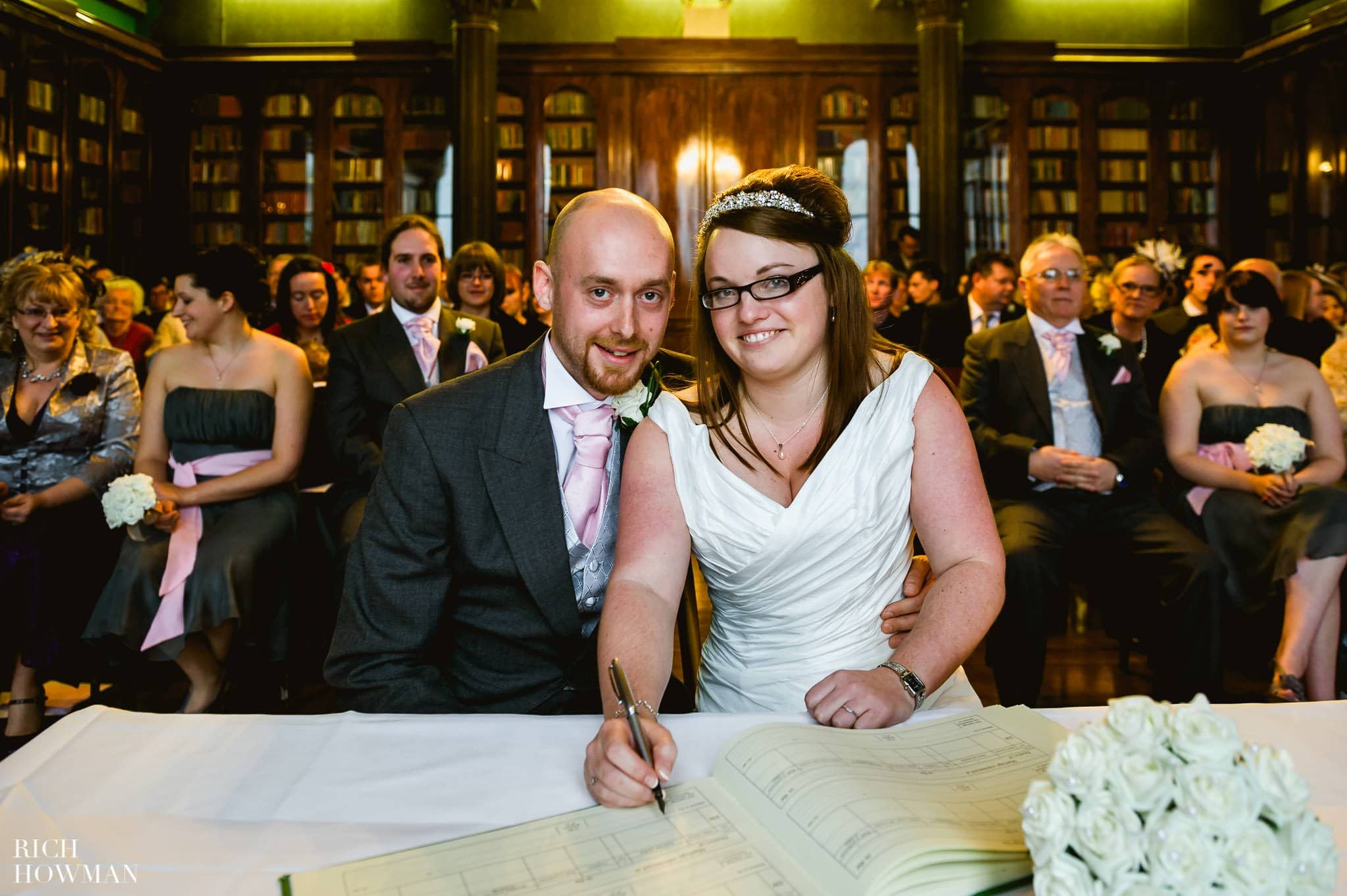 Grittleton House Wedding in the snow 11