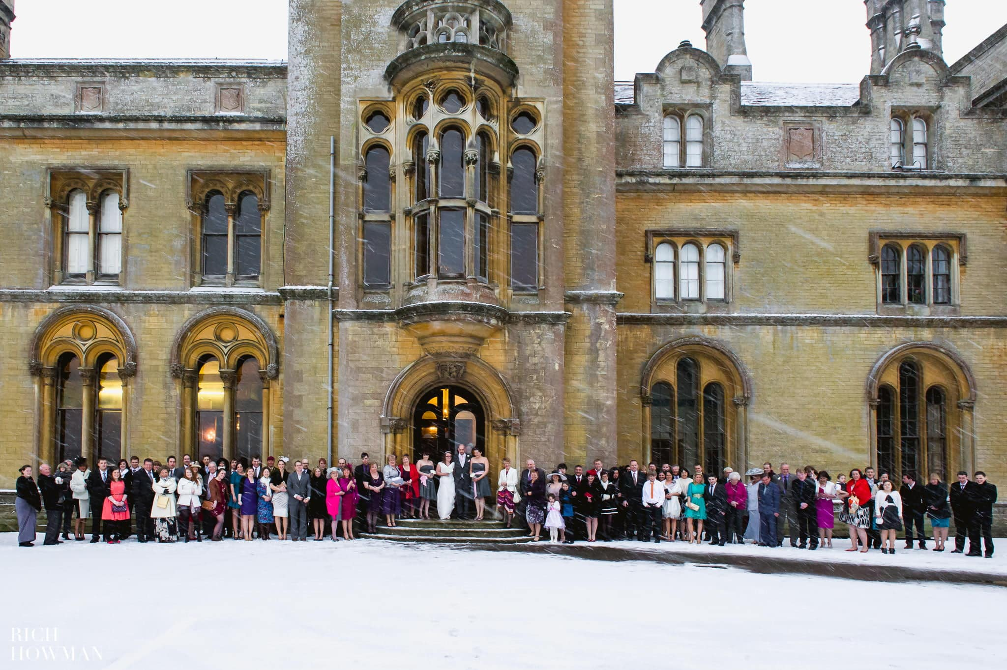 Grittleton House Wedding in the snow 15