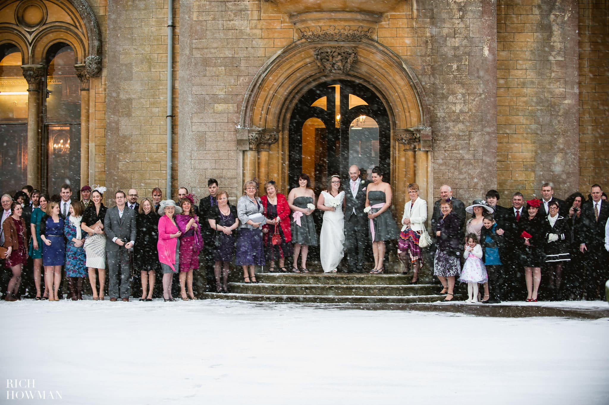 Grittleton House Wedding in the snow 16