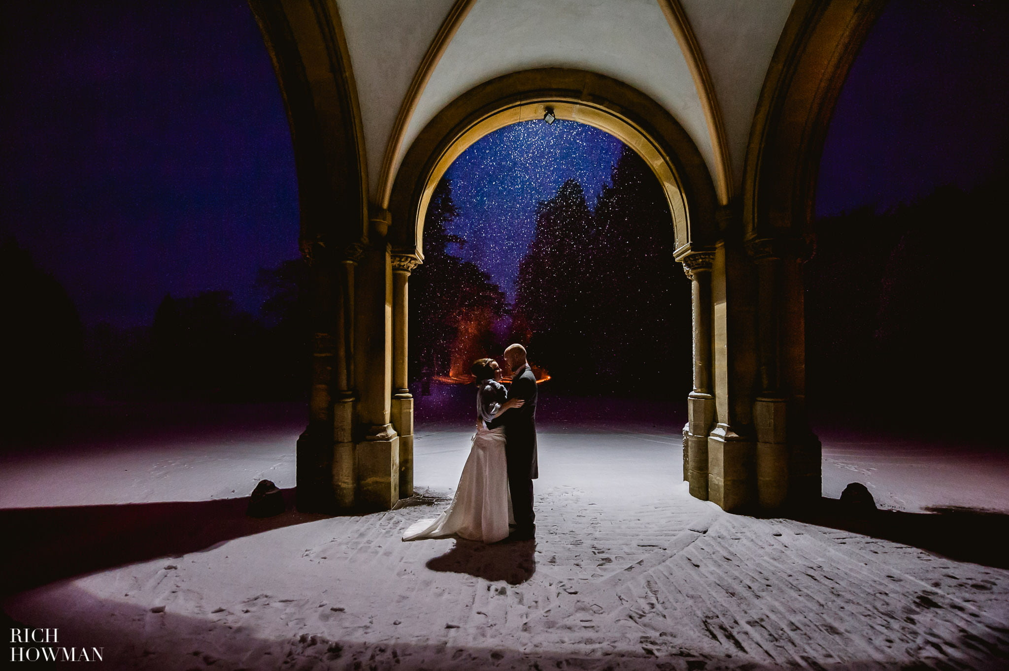 Grittleton House Wedding in the snow 21