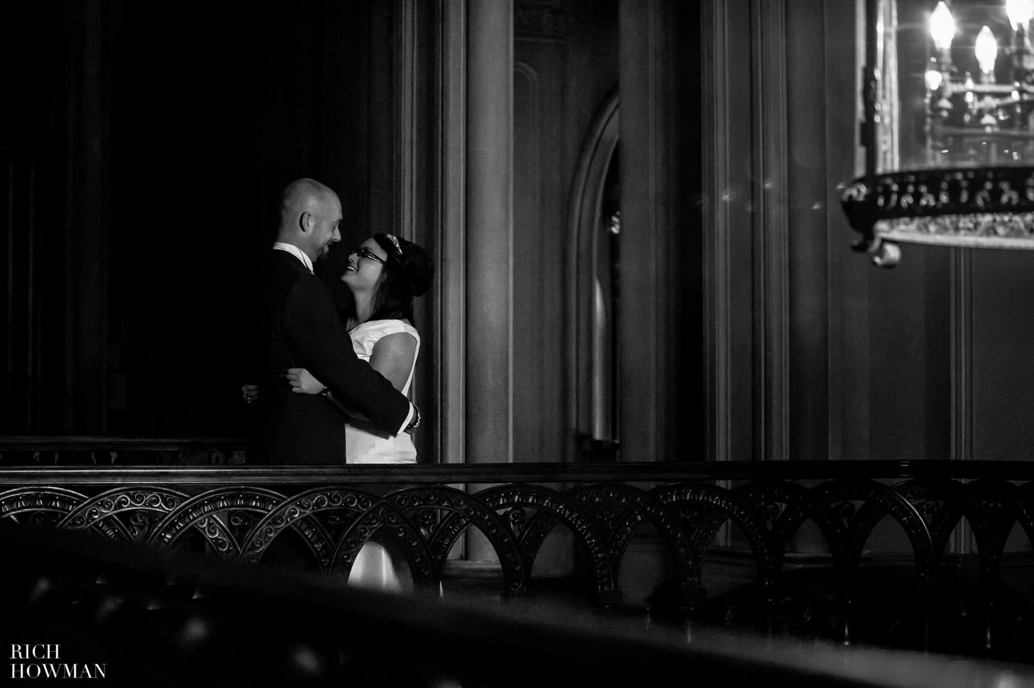 Grittleton House Wedding in the snow 24
