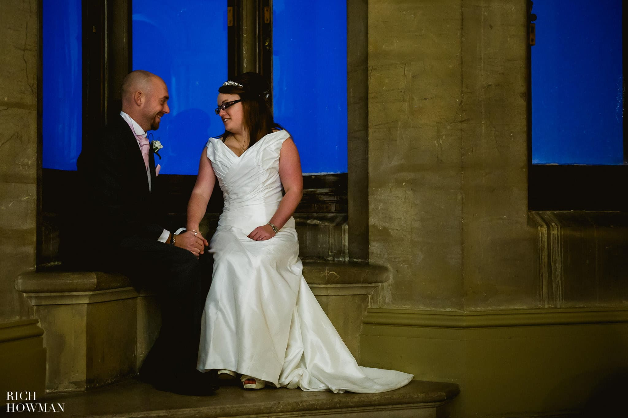 Grittleton House Wedding in the snow 25