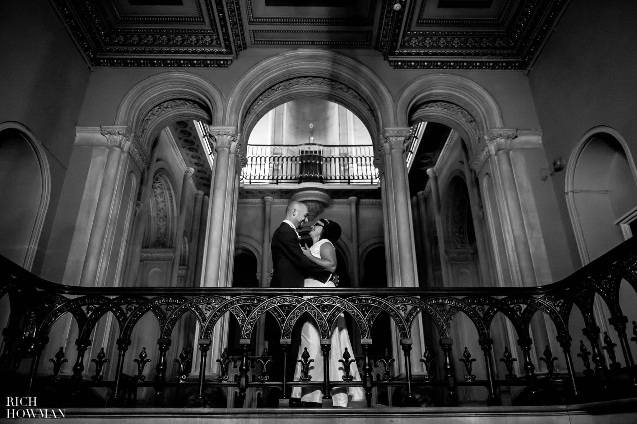 Grittleton House Wedding in the snow 26