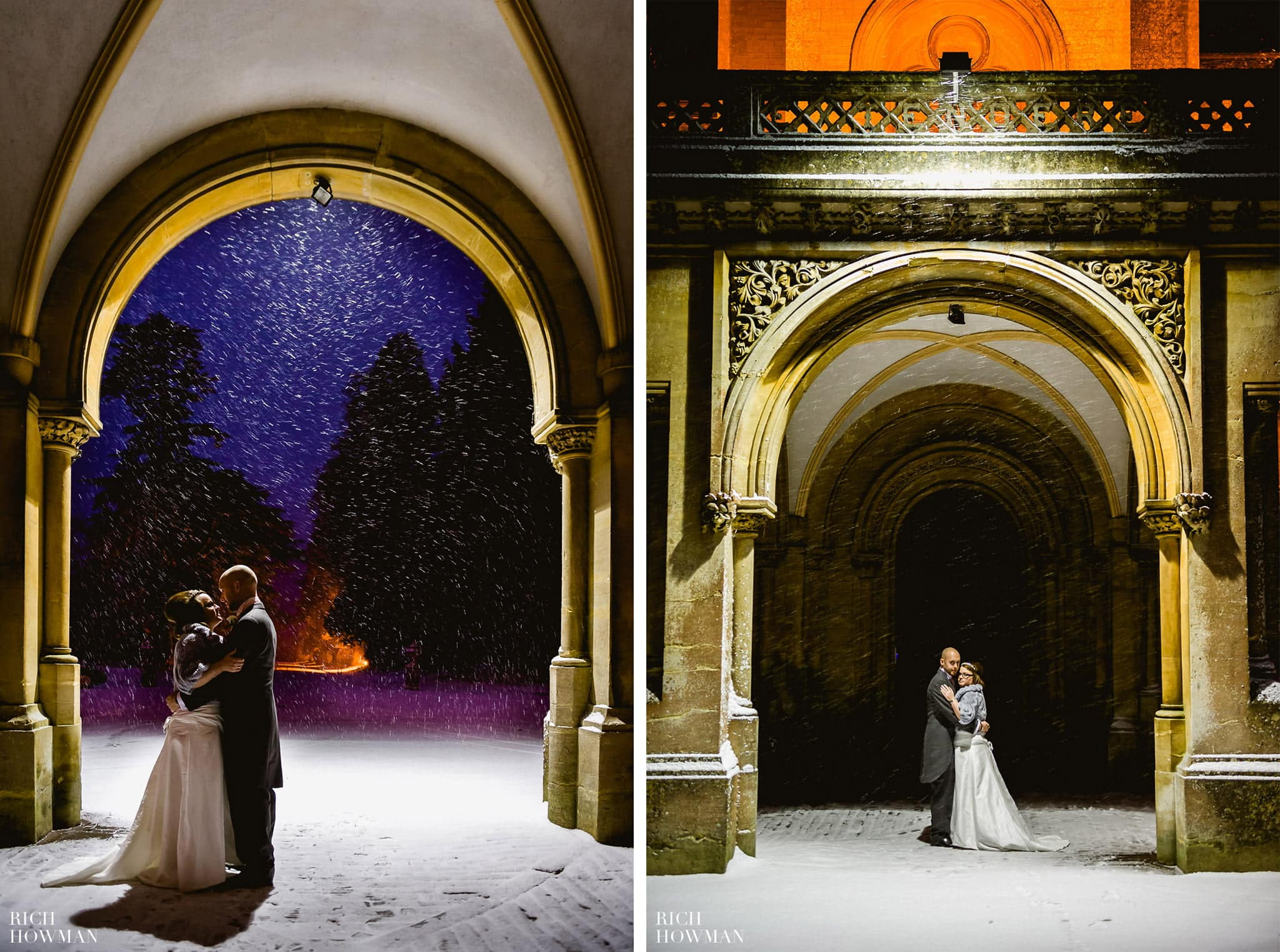 Grittleton House Wedding in the snow 28