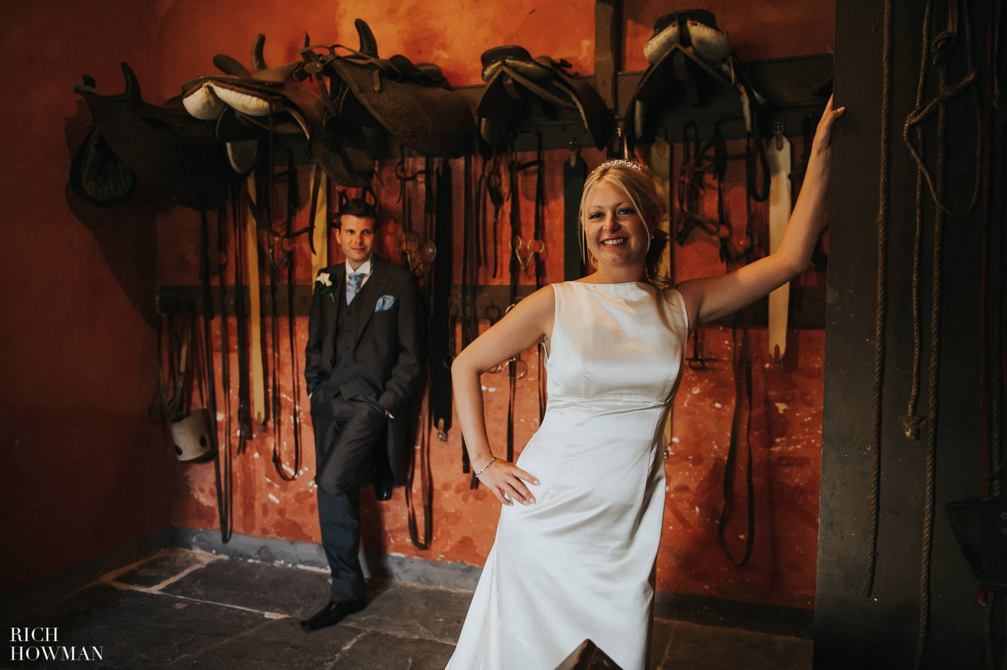 Llanerchaeron wedding photos in the stables