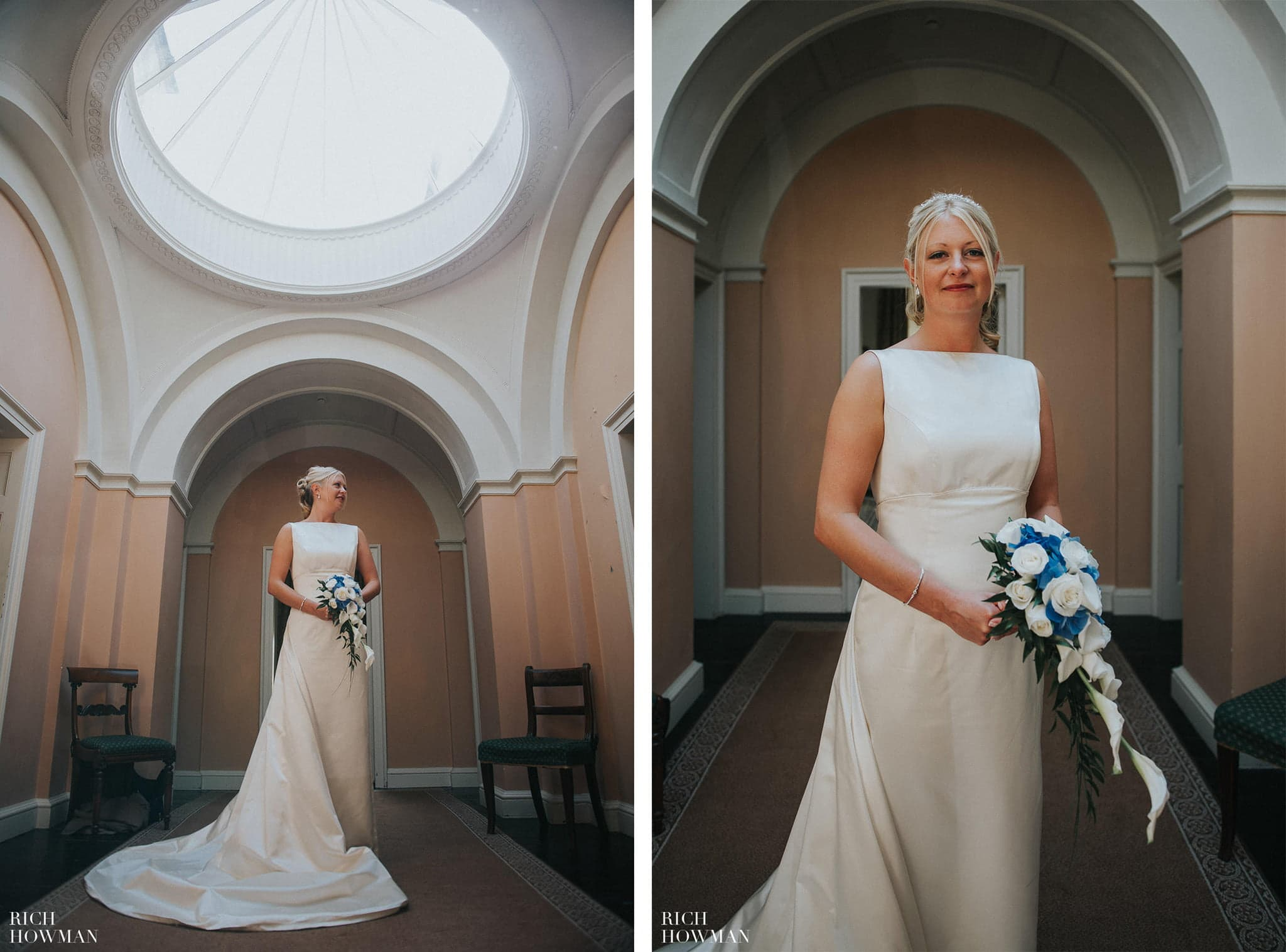 Sian the Bride photographed by Rich during her wedding at Llanerchaeron.