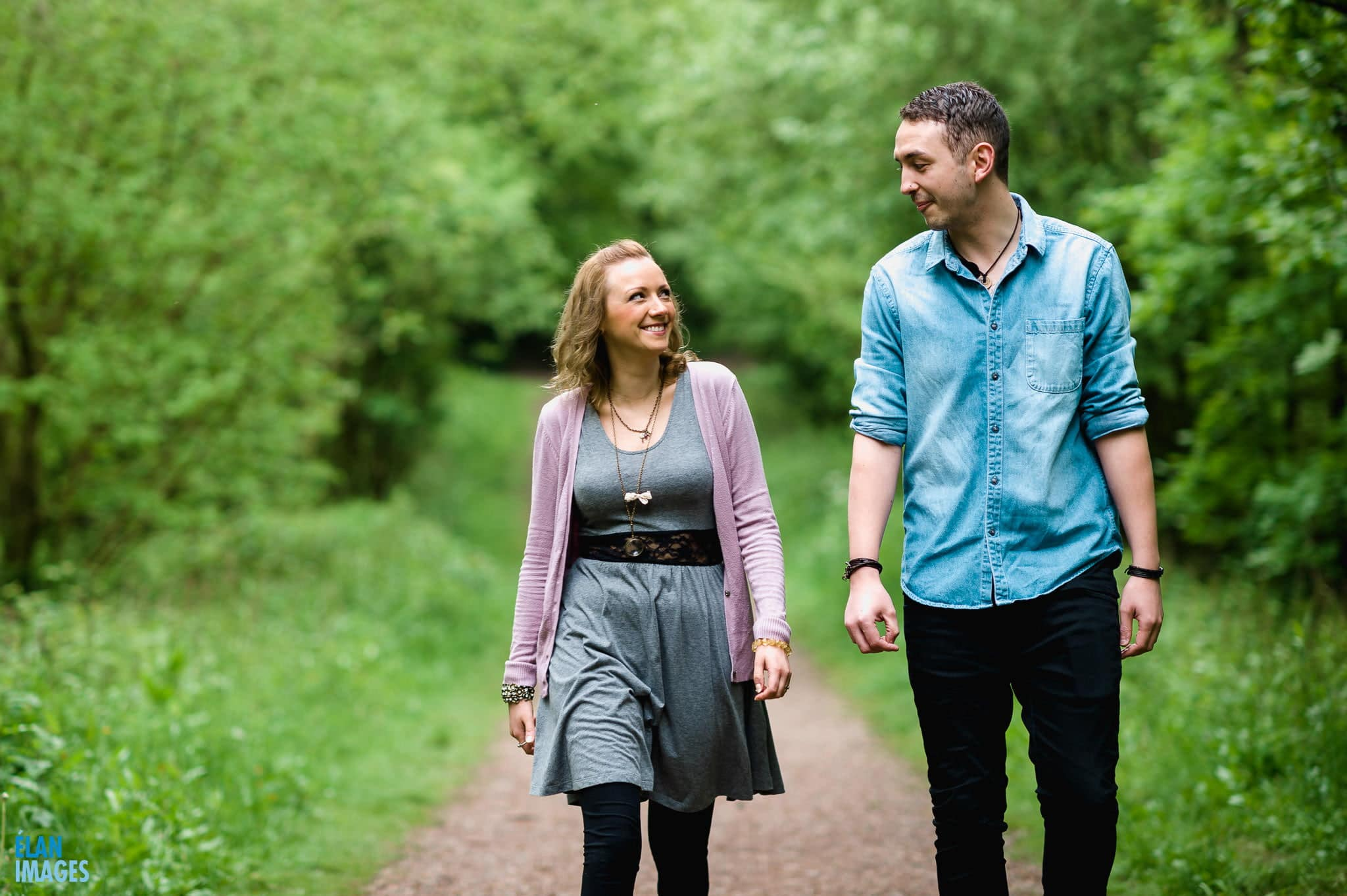 Engagement Photo Shoot in the Bluebell Woods near Bristol 1
