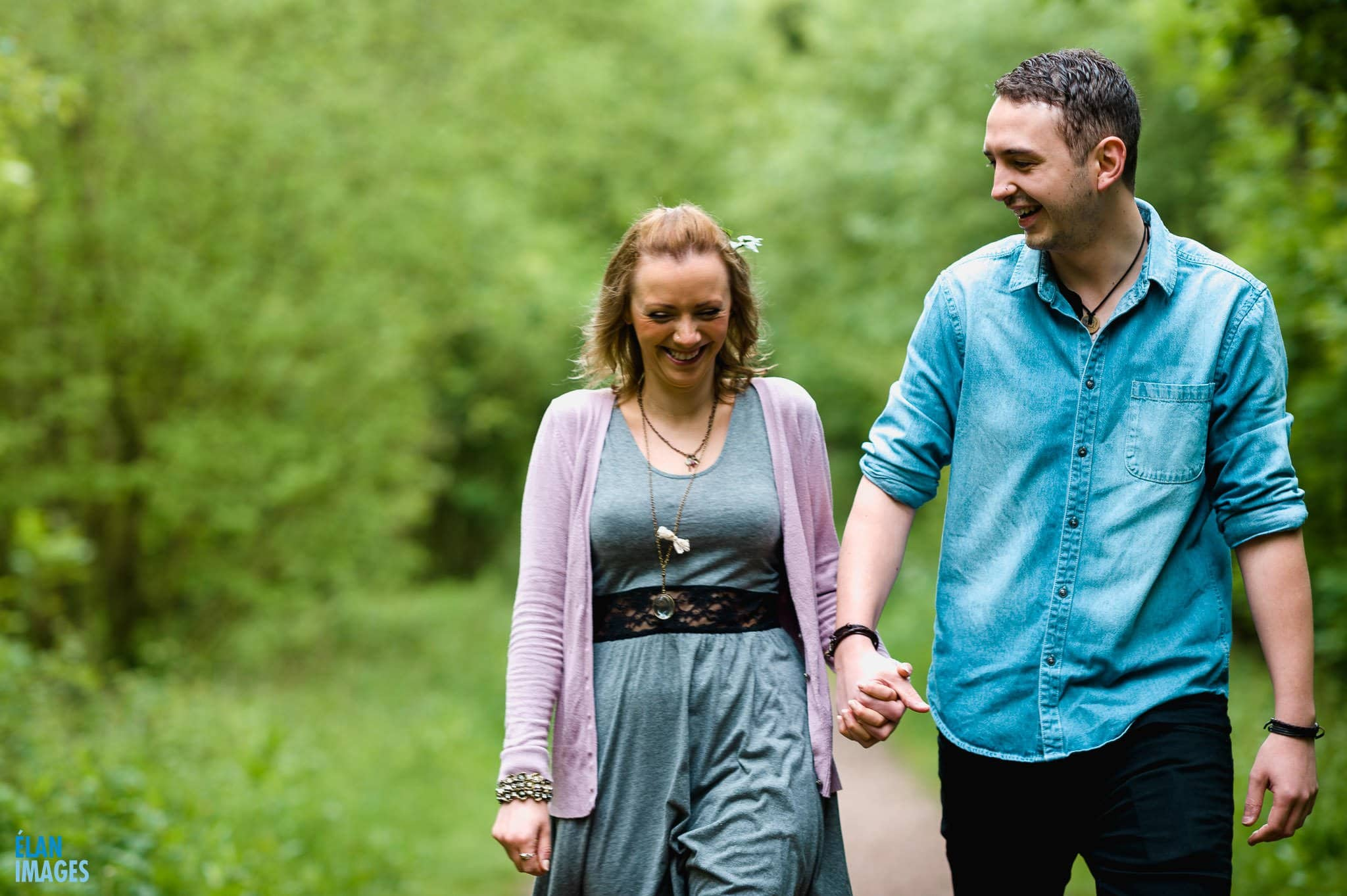 Engagement Photo Shoot in the Bluebell Woods near Bristol 2