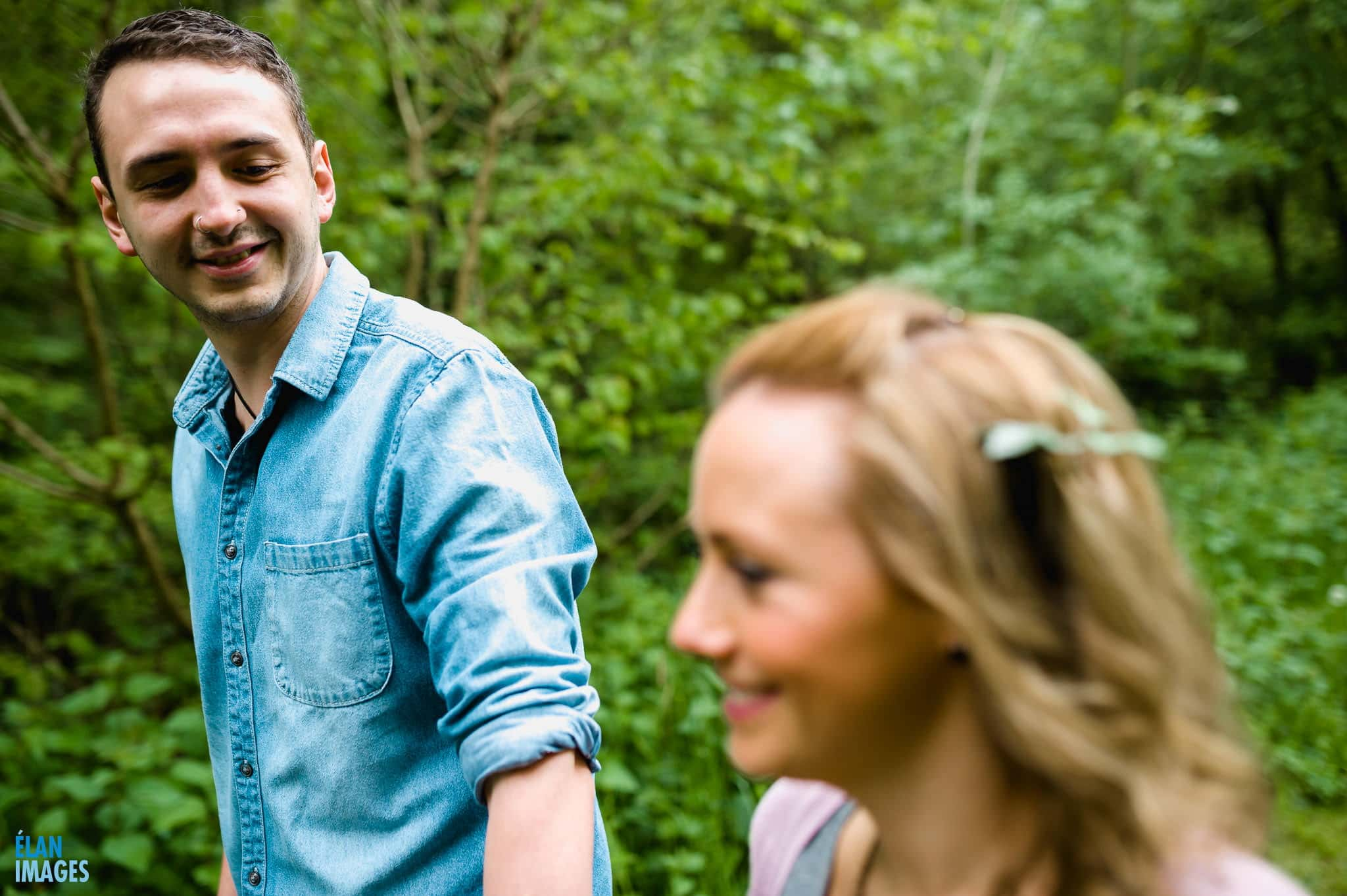 Engagement Photo Shoot in the Bluebell Woods near Bristol 7