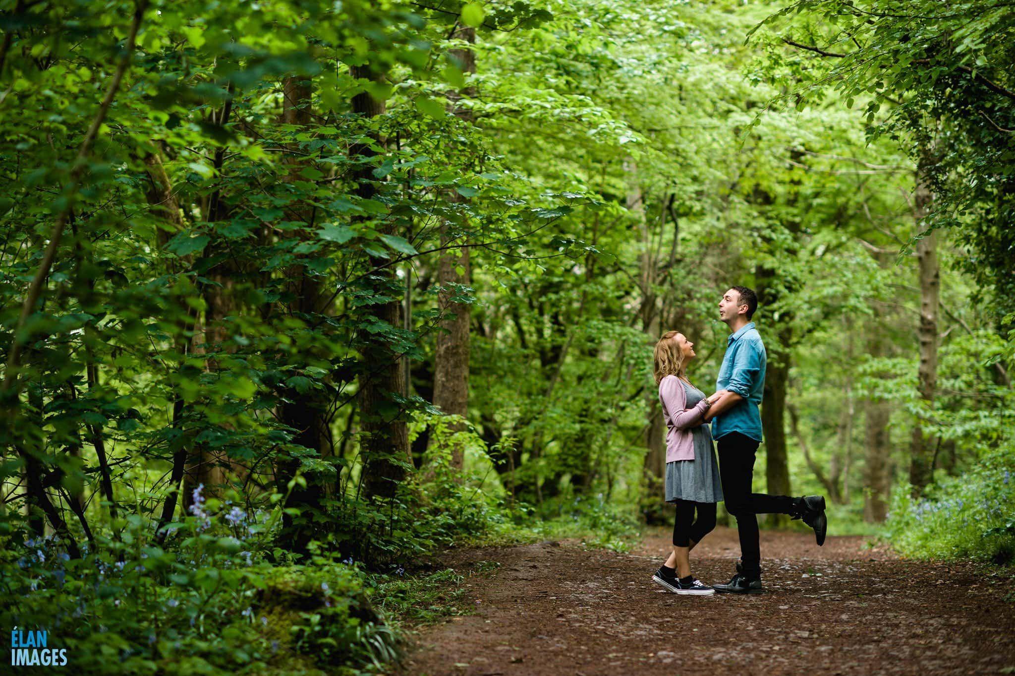 Engagement Photo Shoot in the Bluebell Woods near Bristol 8