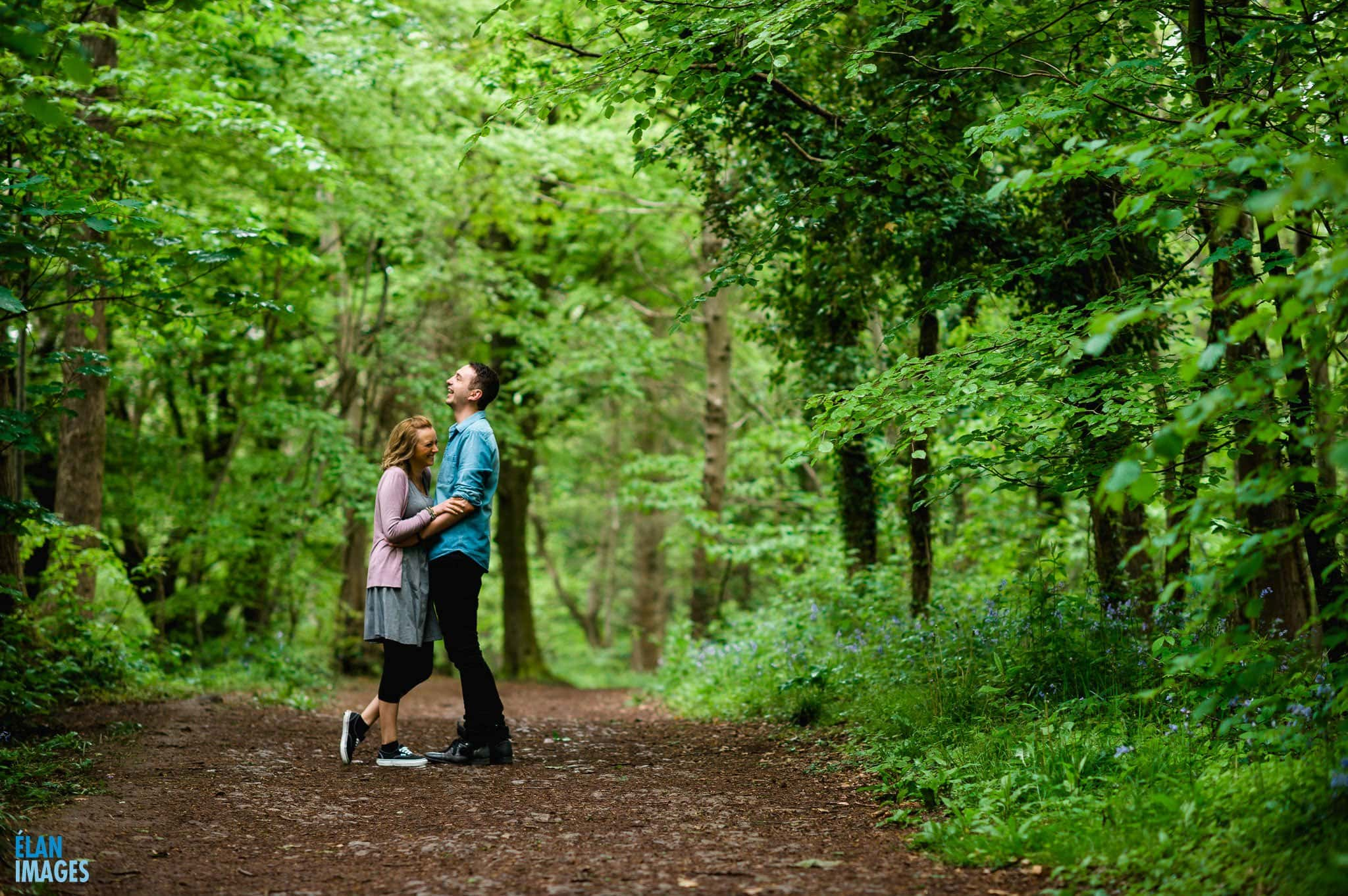 Engagement Photo Shoot in the Bluebell Woods near Bristol 9