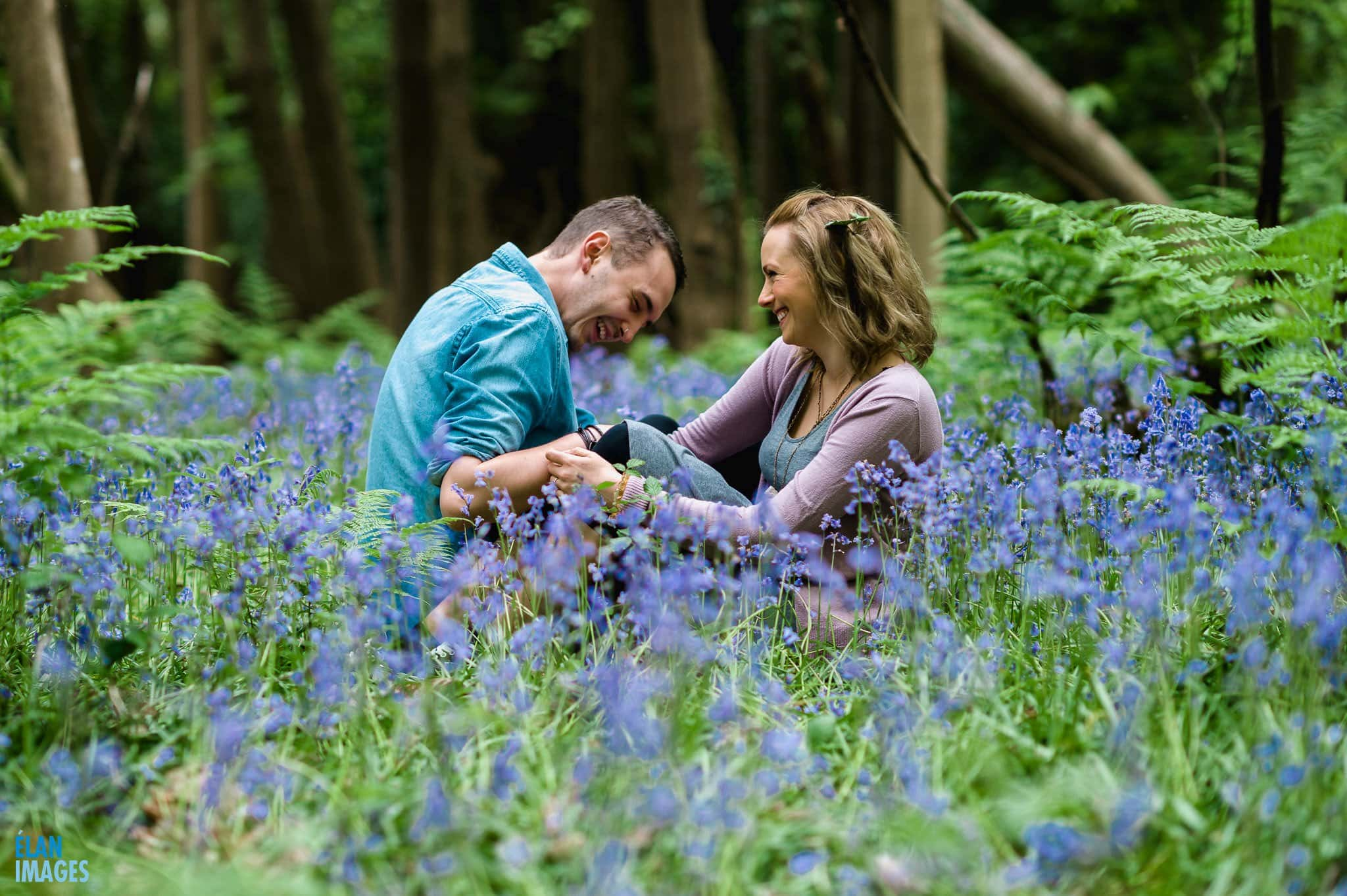 Engagement Photo Shoot in the Bluebell Woods near Bristol 12