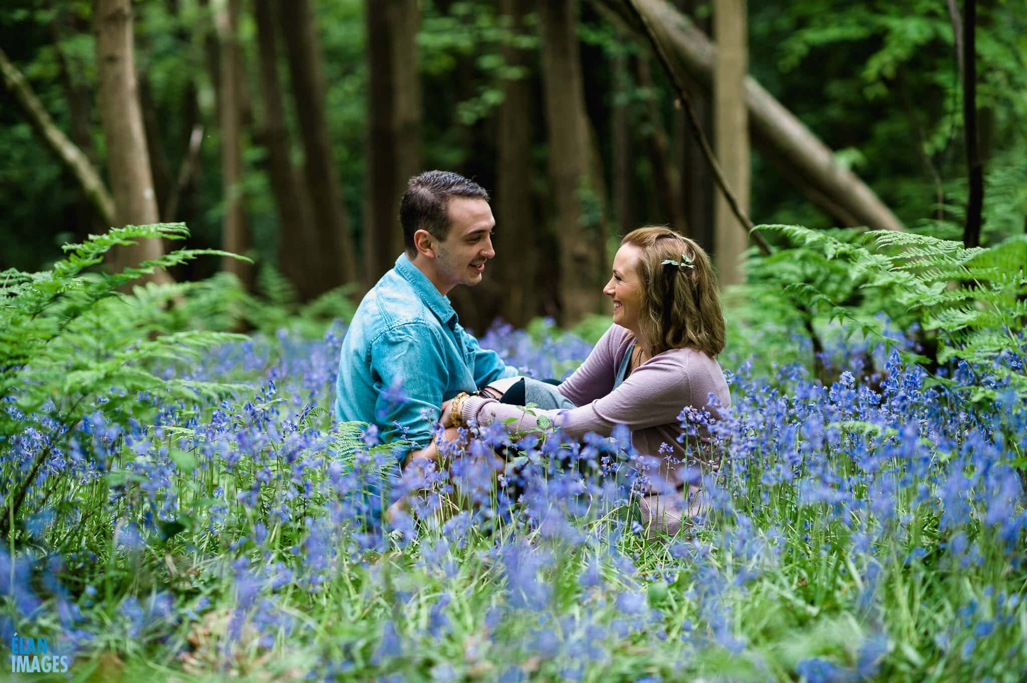 Engagement Photo Shoot in the Bluebell Woods near Bristol 13