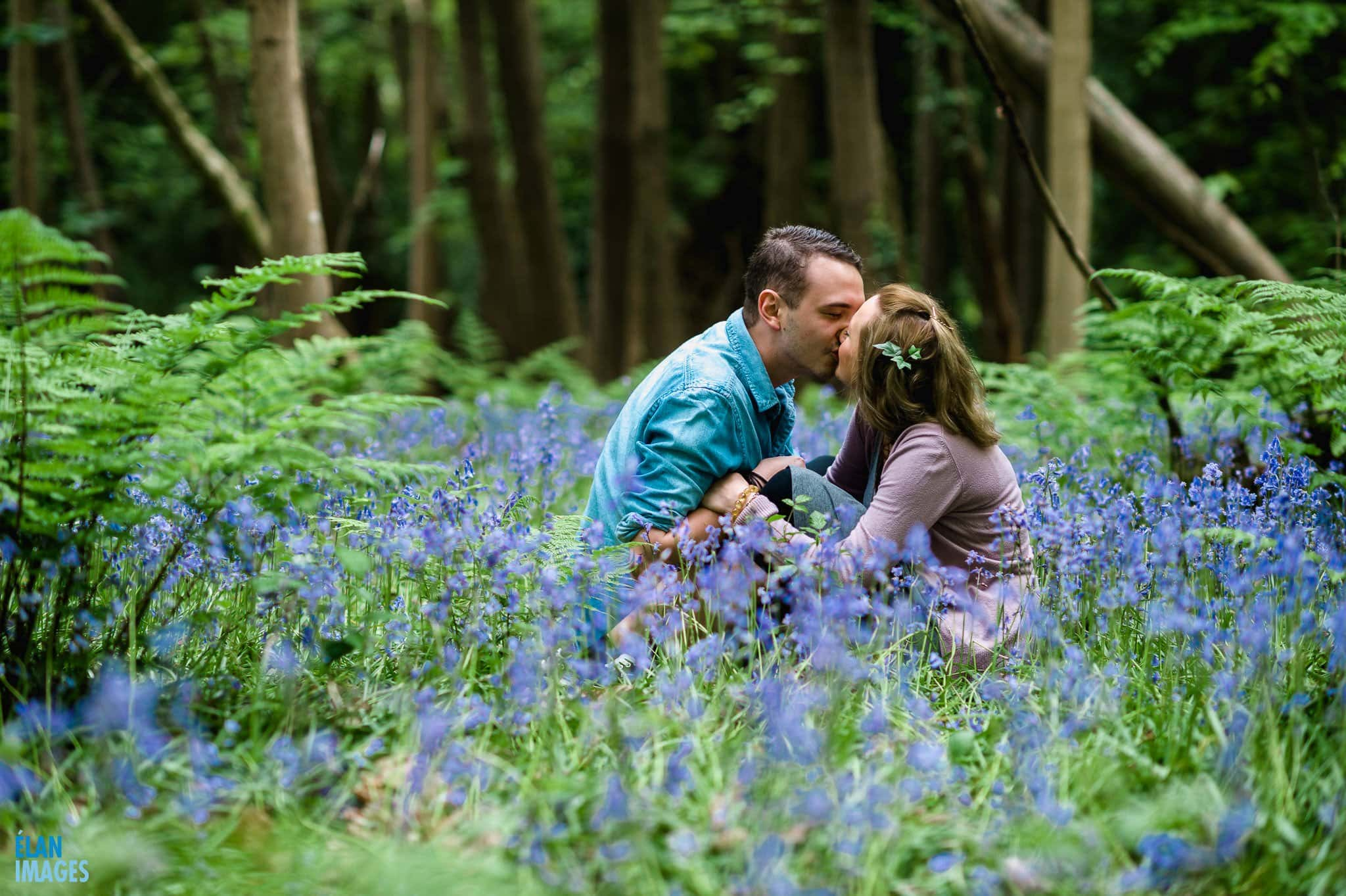 Engagement Photo Shoot in the Bluebell Woods near Bristol 14