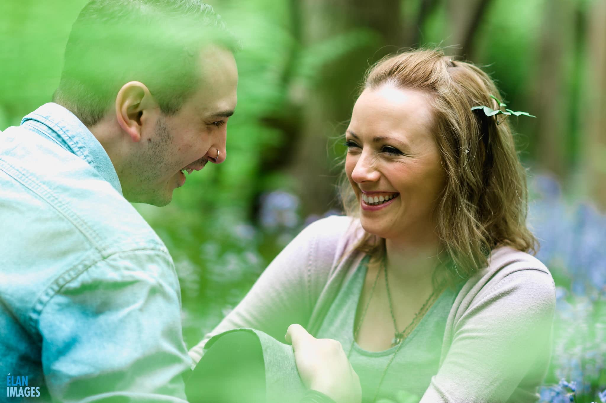 Engagement Photo Shoot in the Bluebell Woods near Bristol 15