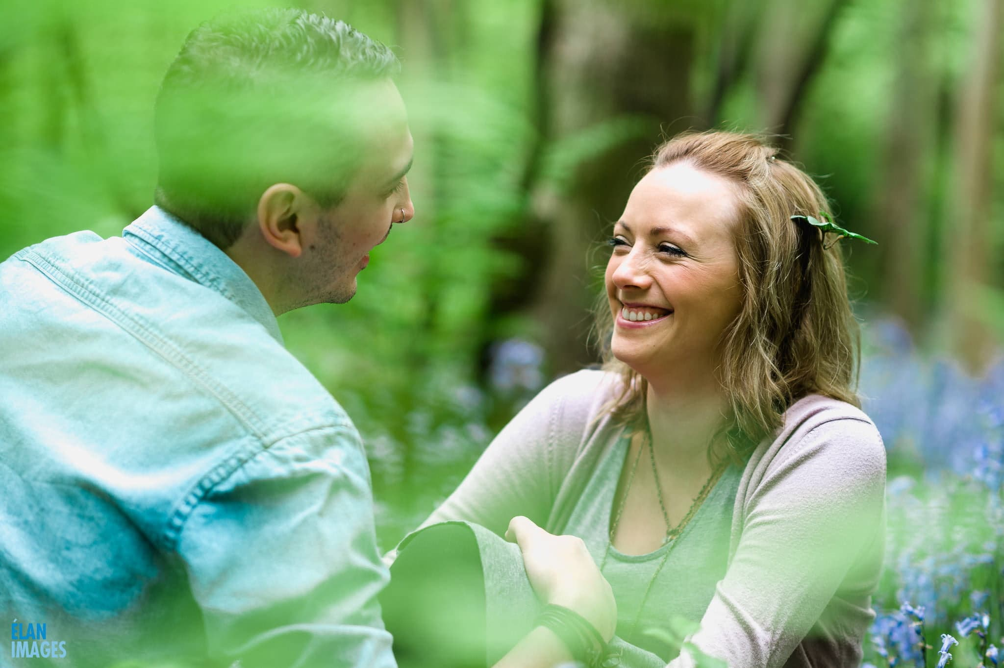 Engagement Photo Shoot in the Bluebell Woods near Bristol 16