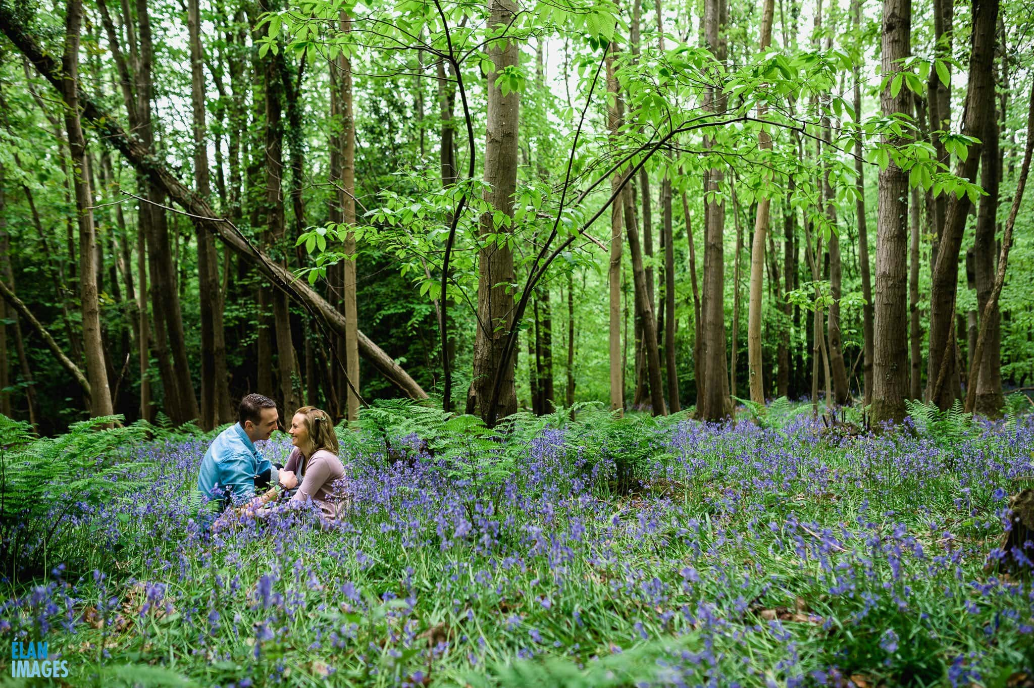 Engagement Photo Shoot in the Bluebell Woods near Bristol 17