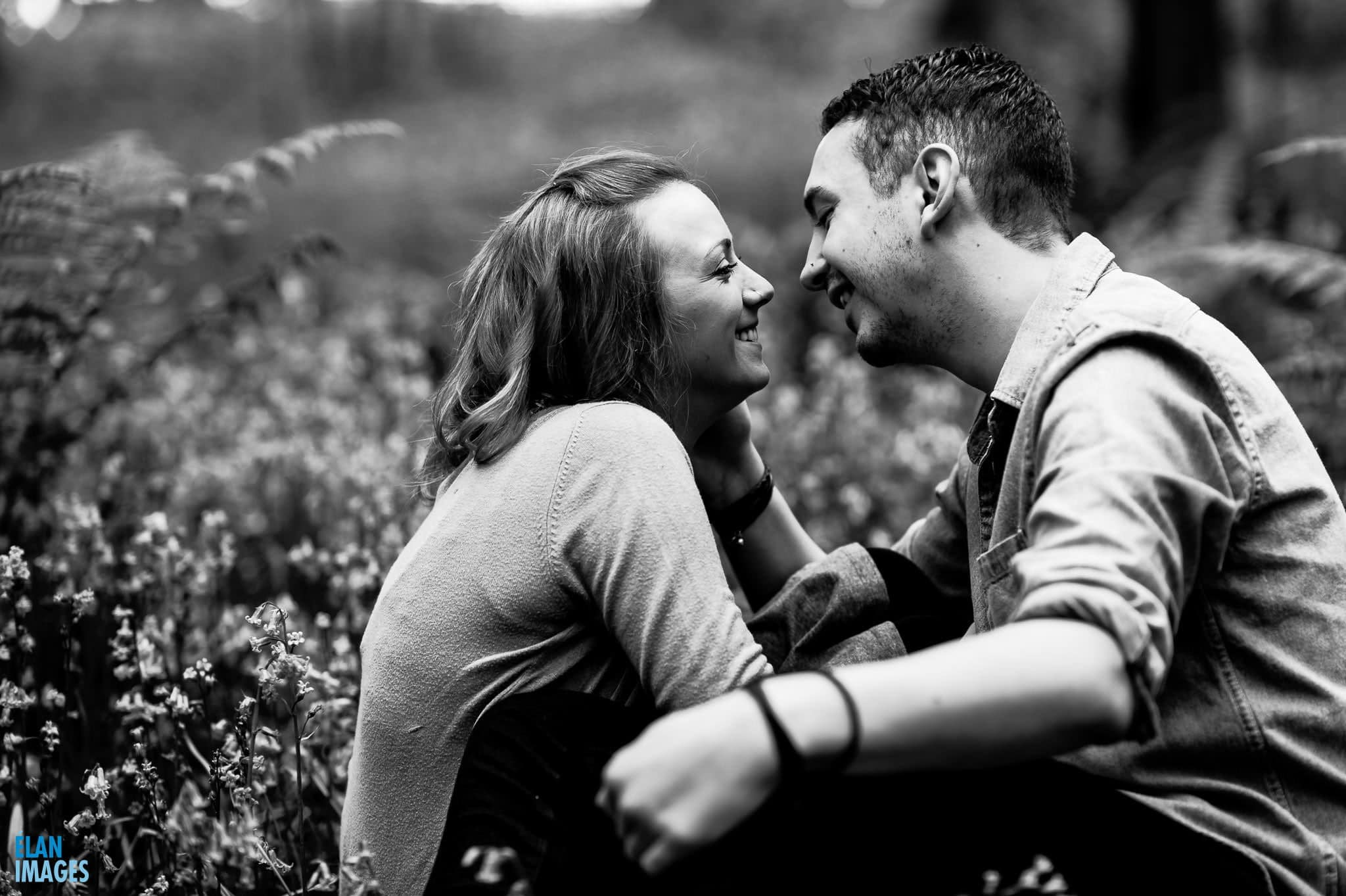 Engagement Photo Shoot in the Bluebell Woods near Bristol 19