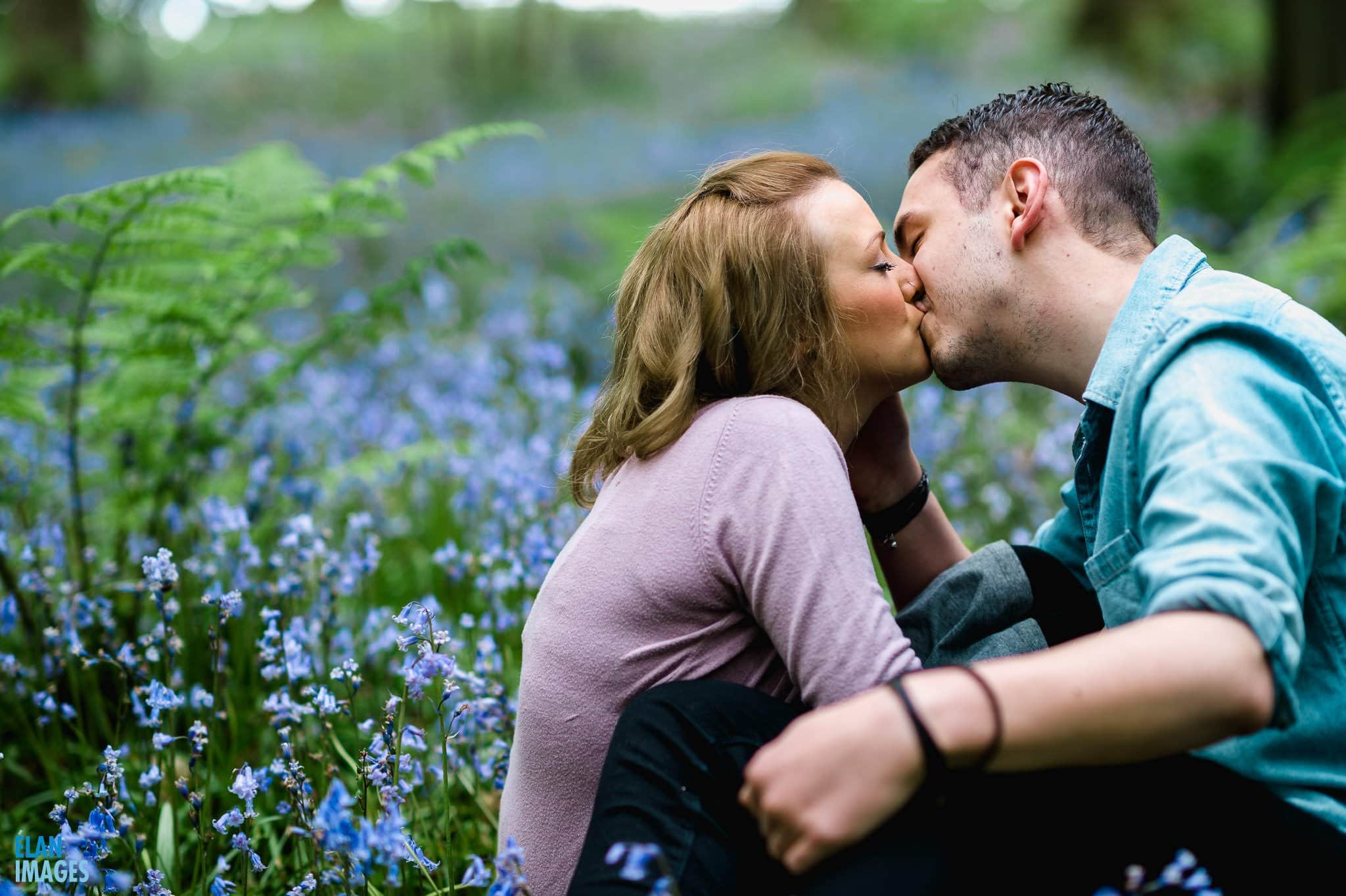 Engagement Photo Shoot in the Bluebell Woods near Bristol 20
