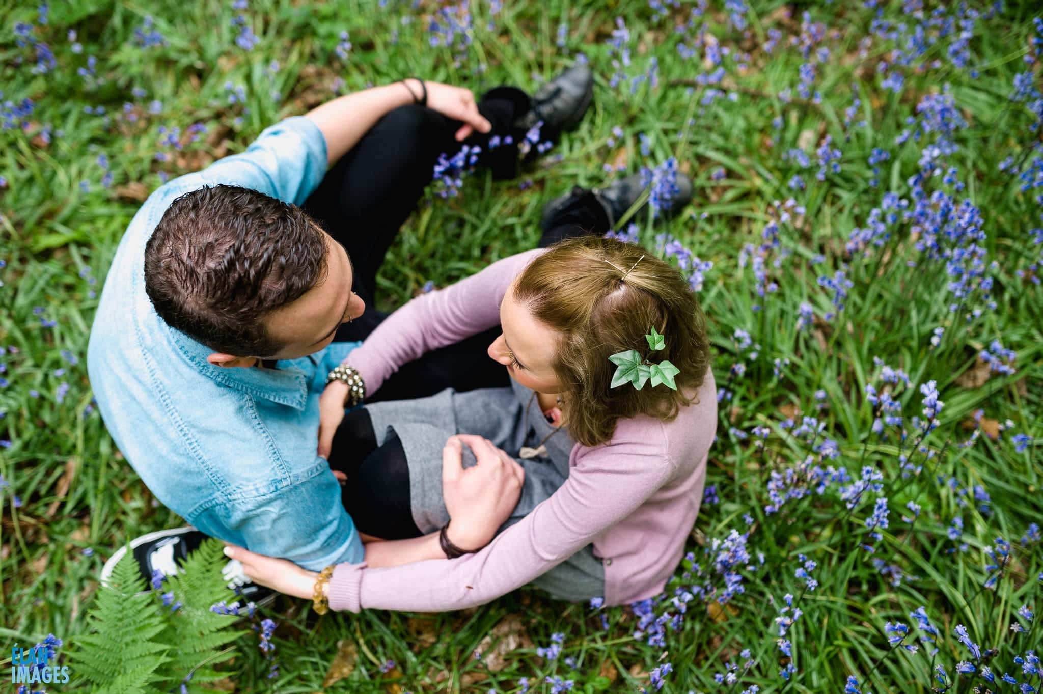 Engagement Photo Shoot in the Bluebell Woods near Bristol 22