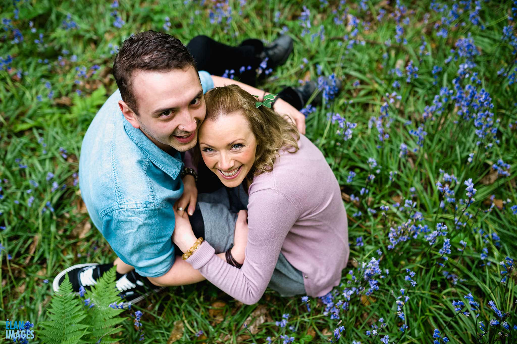 Engagement Photo Shoot in the Bluebell Woods near Bristol 23