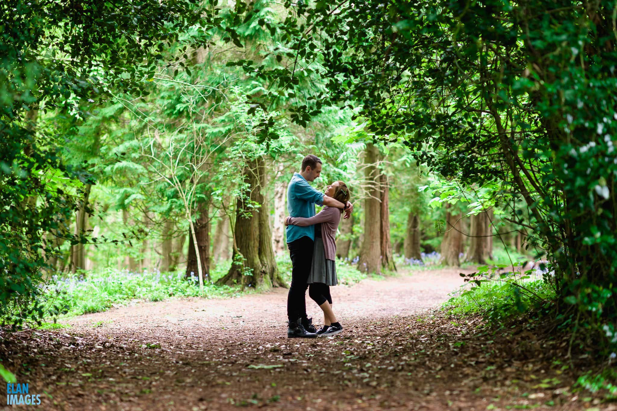 Engagement Photo Shoot in the Bluebell Woods near Bristol 24