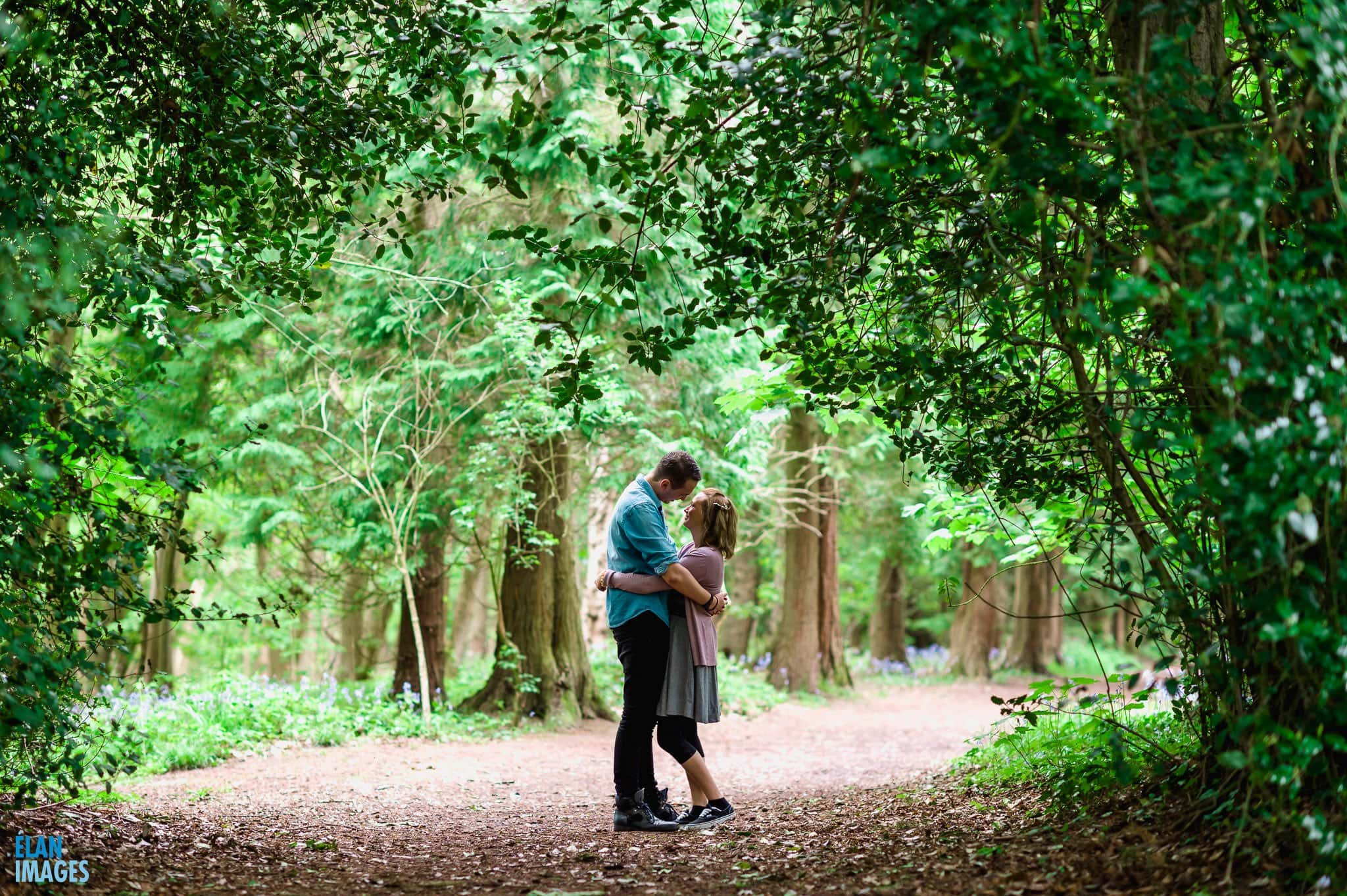 Engagement Photo Shoot in the Bluebell Woods near Bristol 25