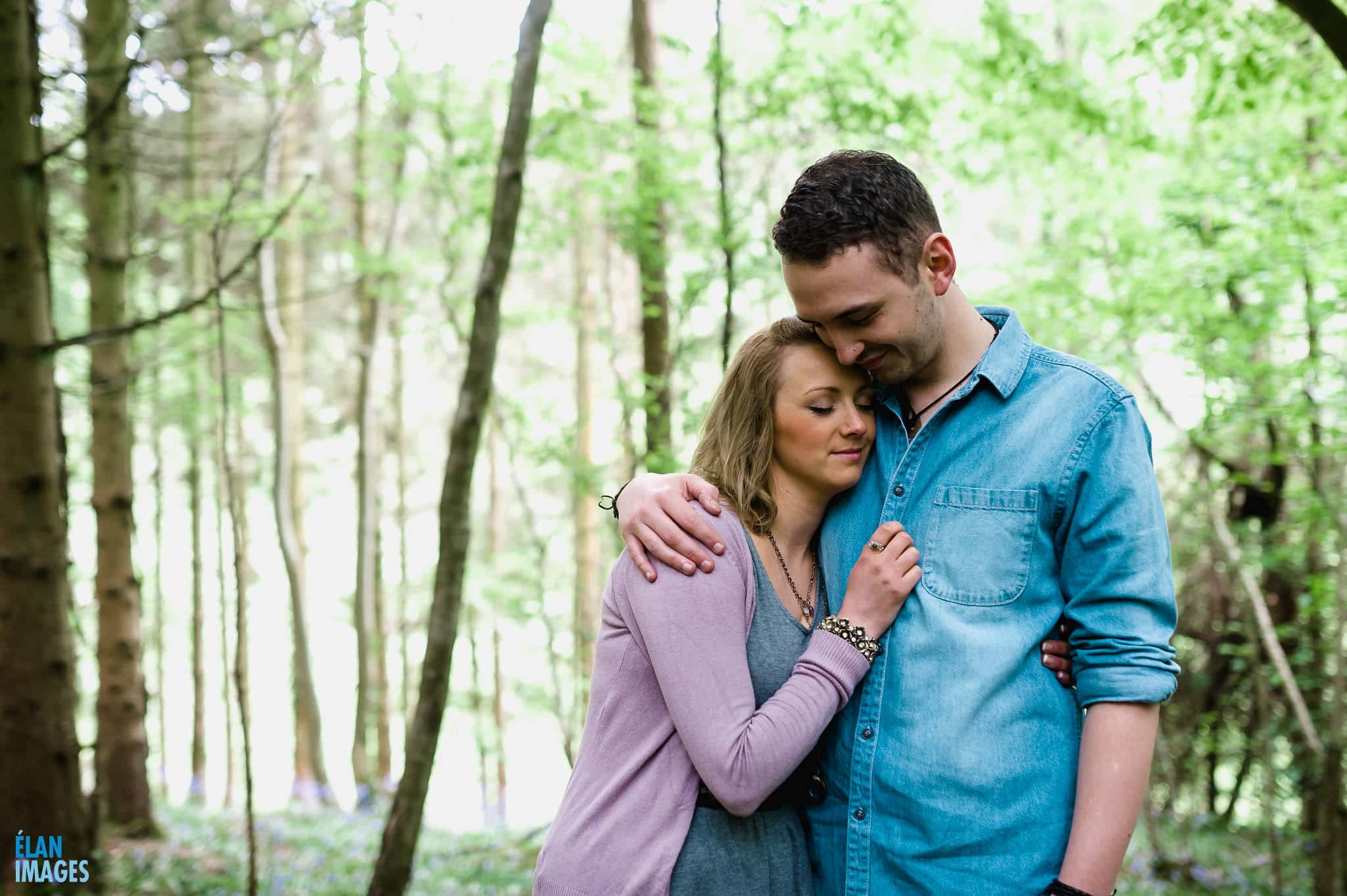 Engagement Photo Shoot in the Bluebell Woods near Bristol 33