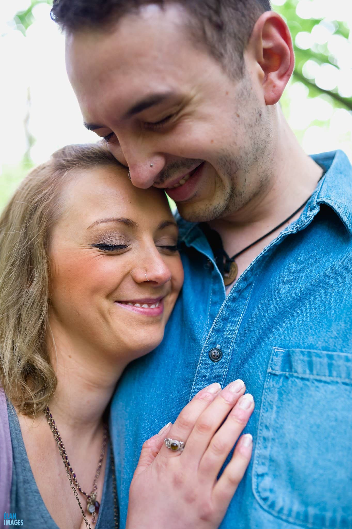 Engagement Photo Shoot in the Bluebell Woods near Bristol 35