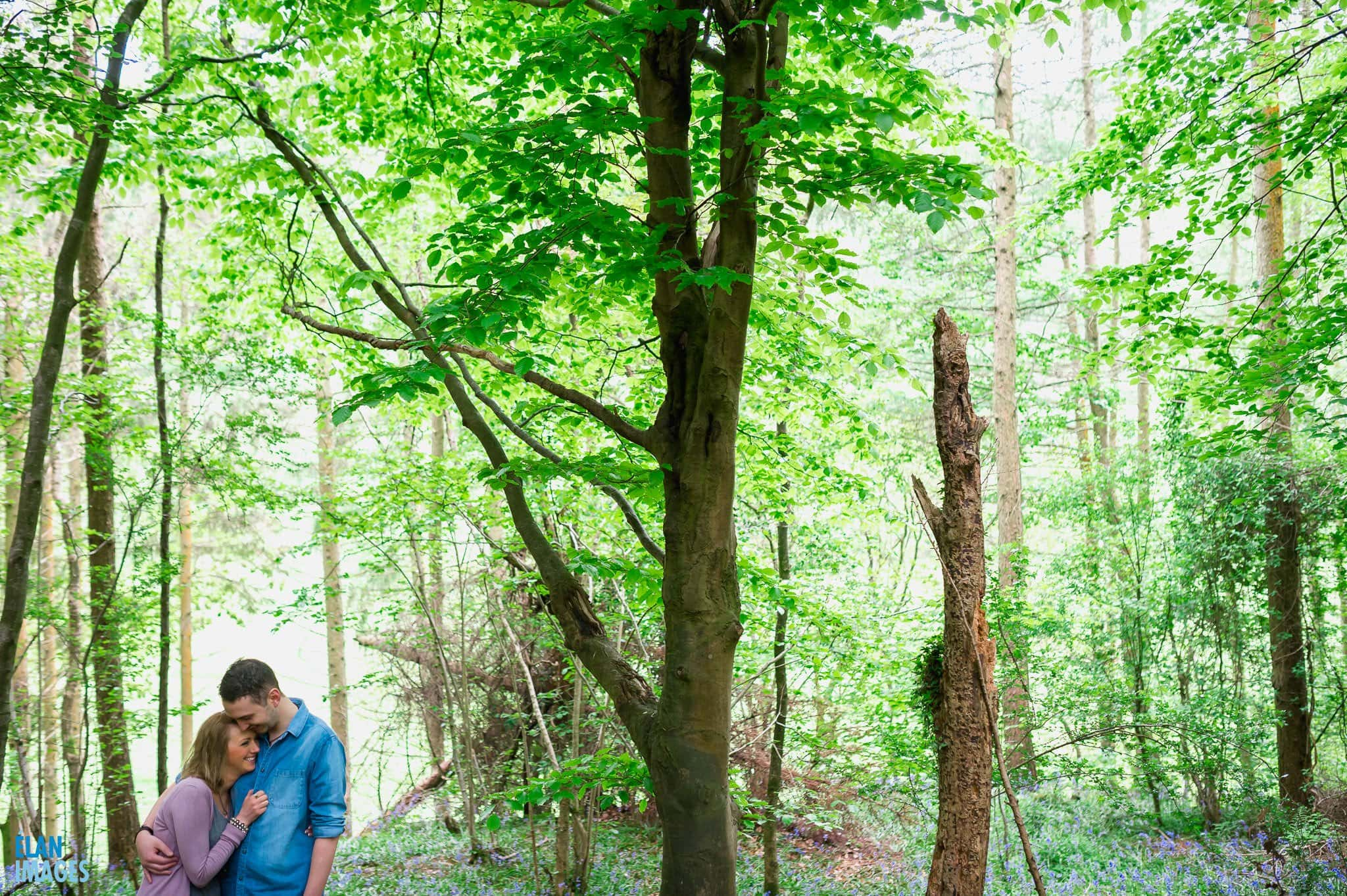 Engagement Photo Shoot in the Bluebell Woods near Bristol 39