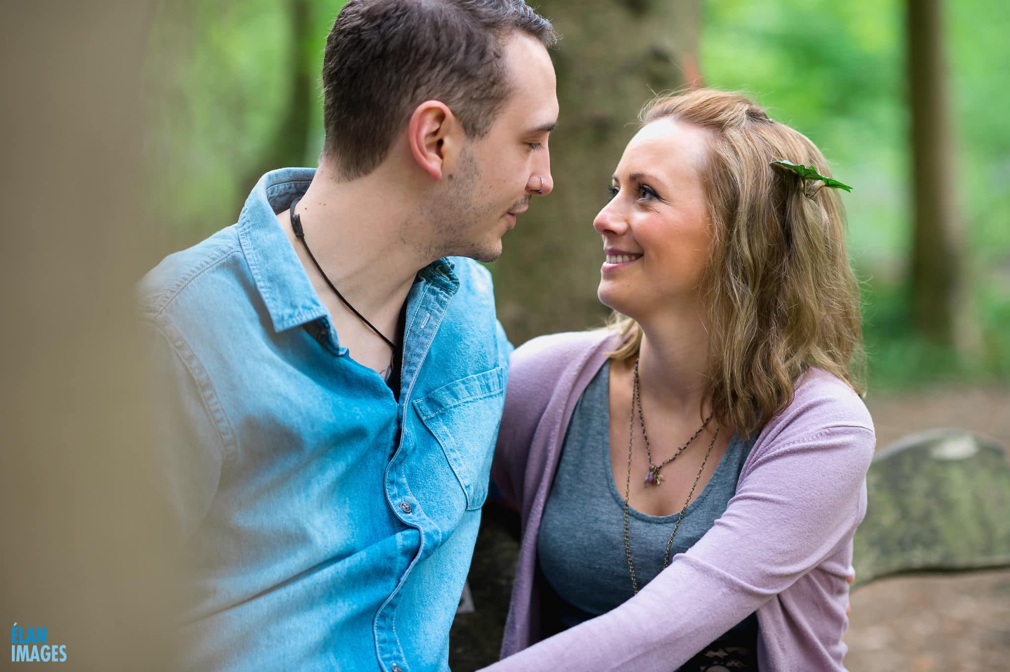 Engagement Photo Shoot in the Bluebell Woods near Bristol 42