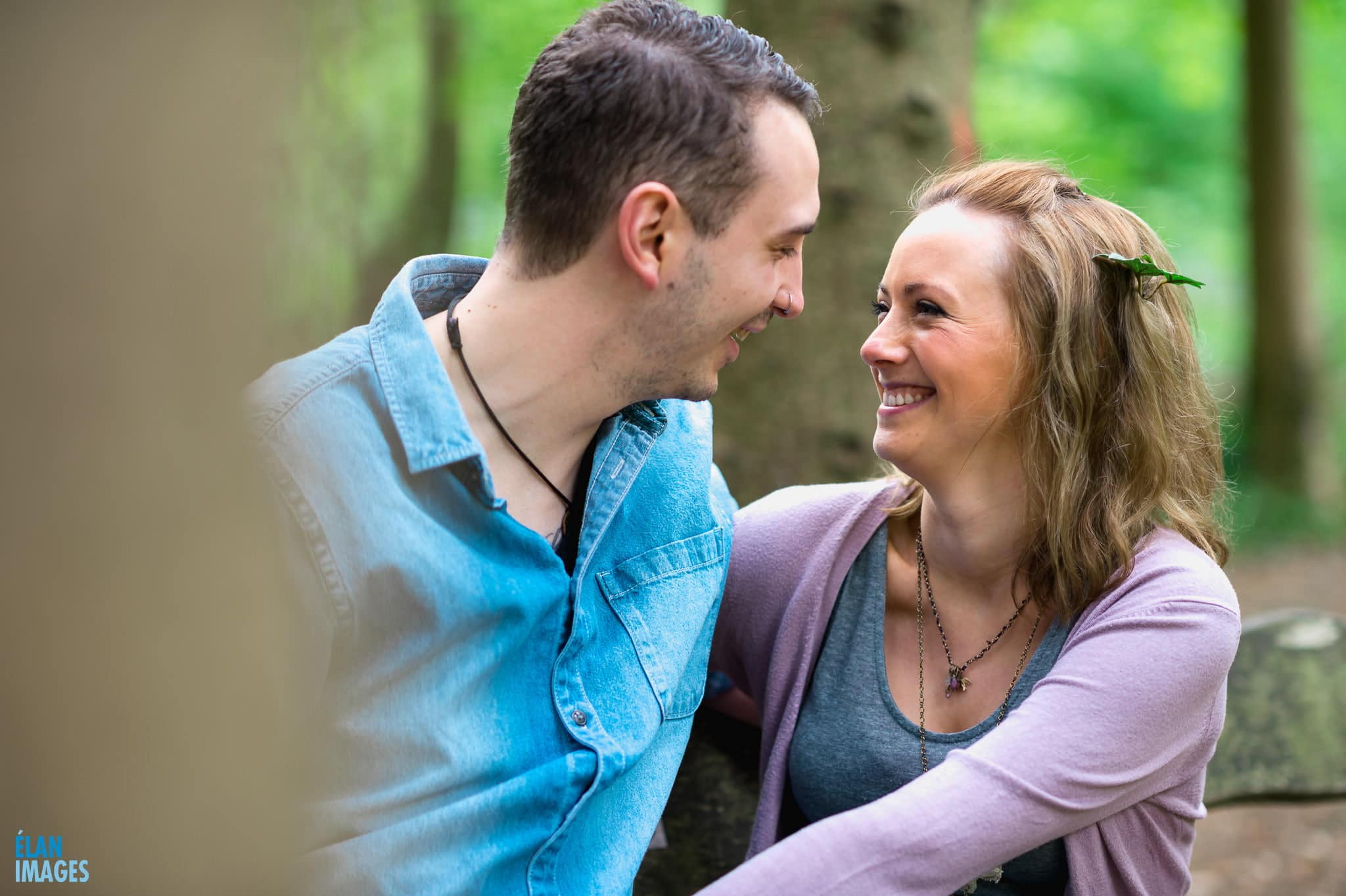 Engagement Photo Shoot in the Bluebell Woods near Bristol 43