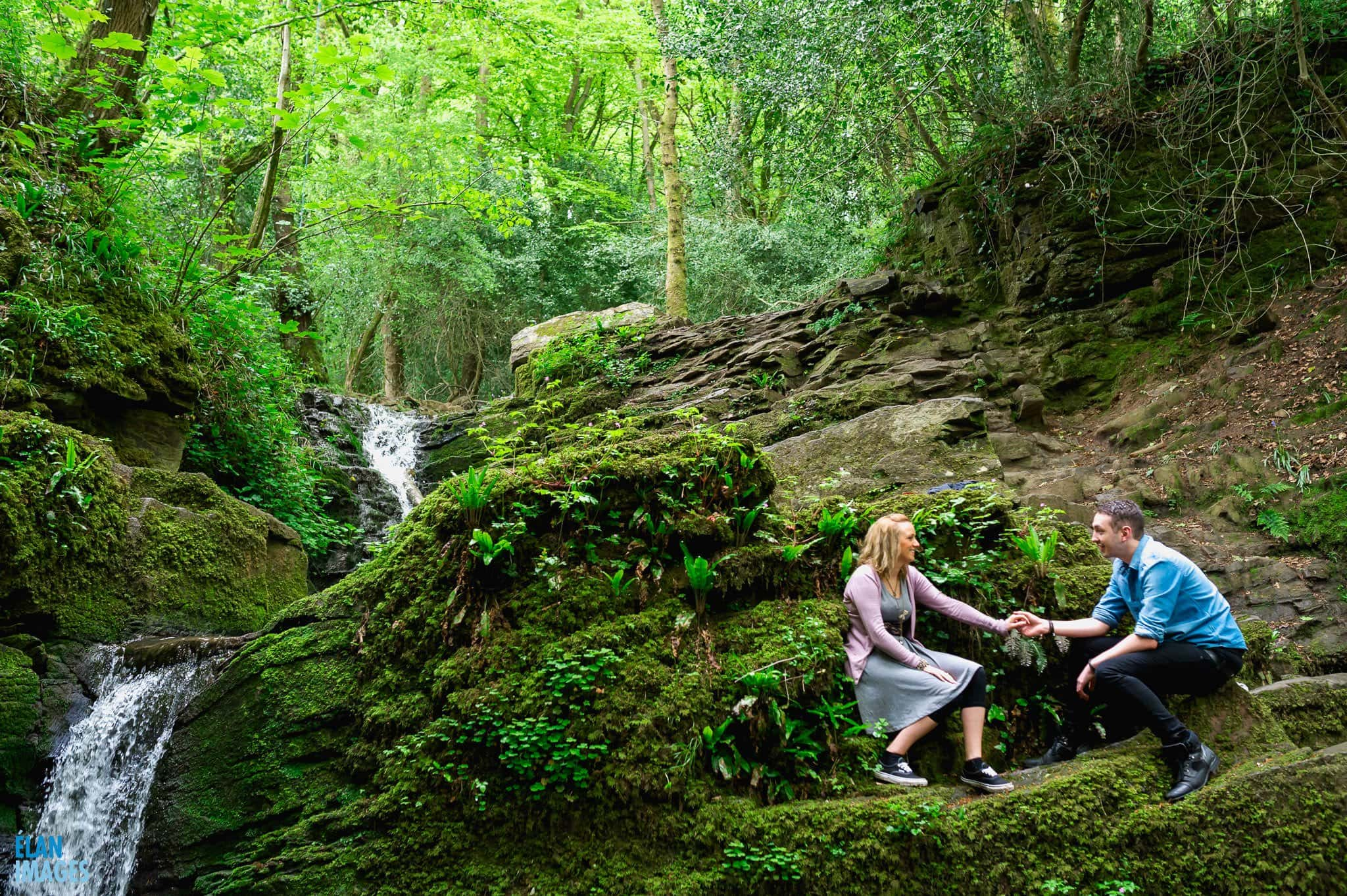 Engagement Photo Shoot in the Bluebell Woods near Bristol 56