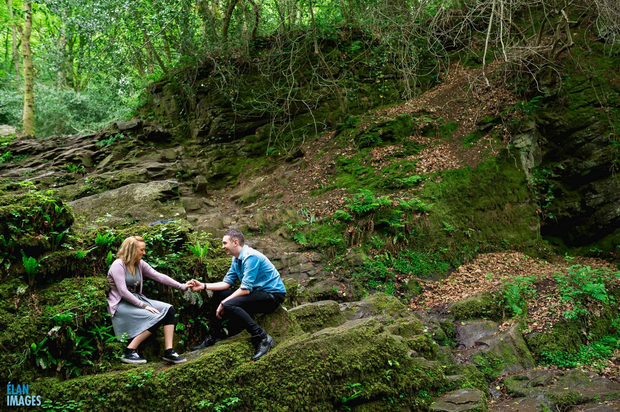 Engagement Photo Shoot in the Bluebell Woods near Bristol 57