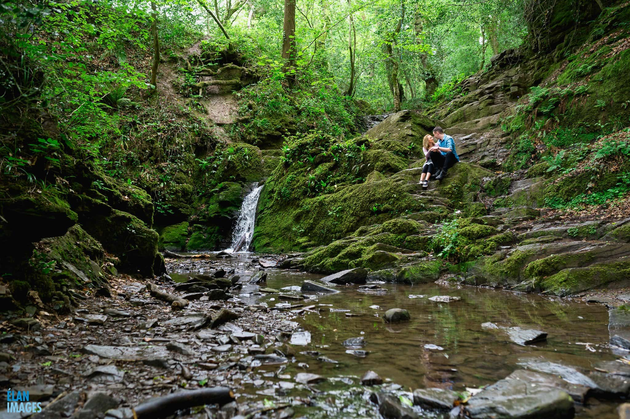 Engagement Photo shoot in bluebell woods near Bristol