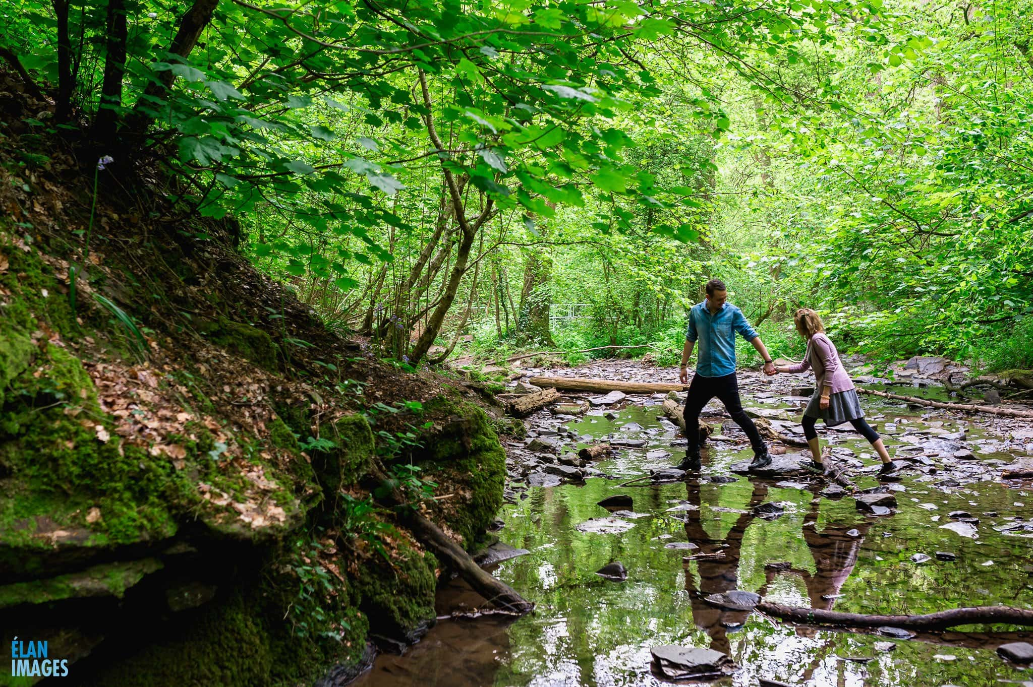 Engagement Photo shoot in bluebell woods in Bristol