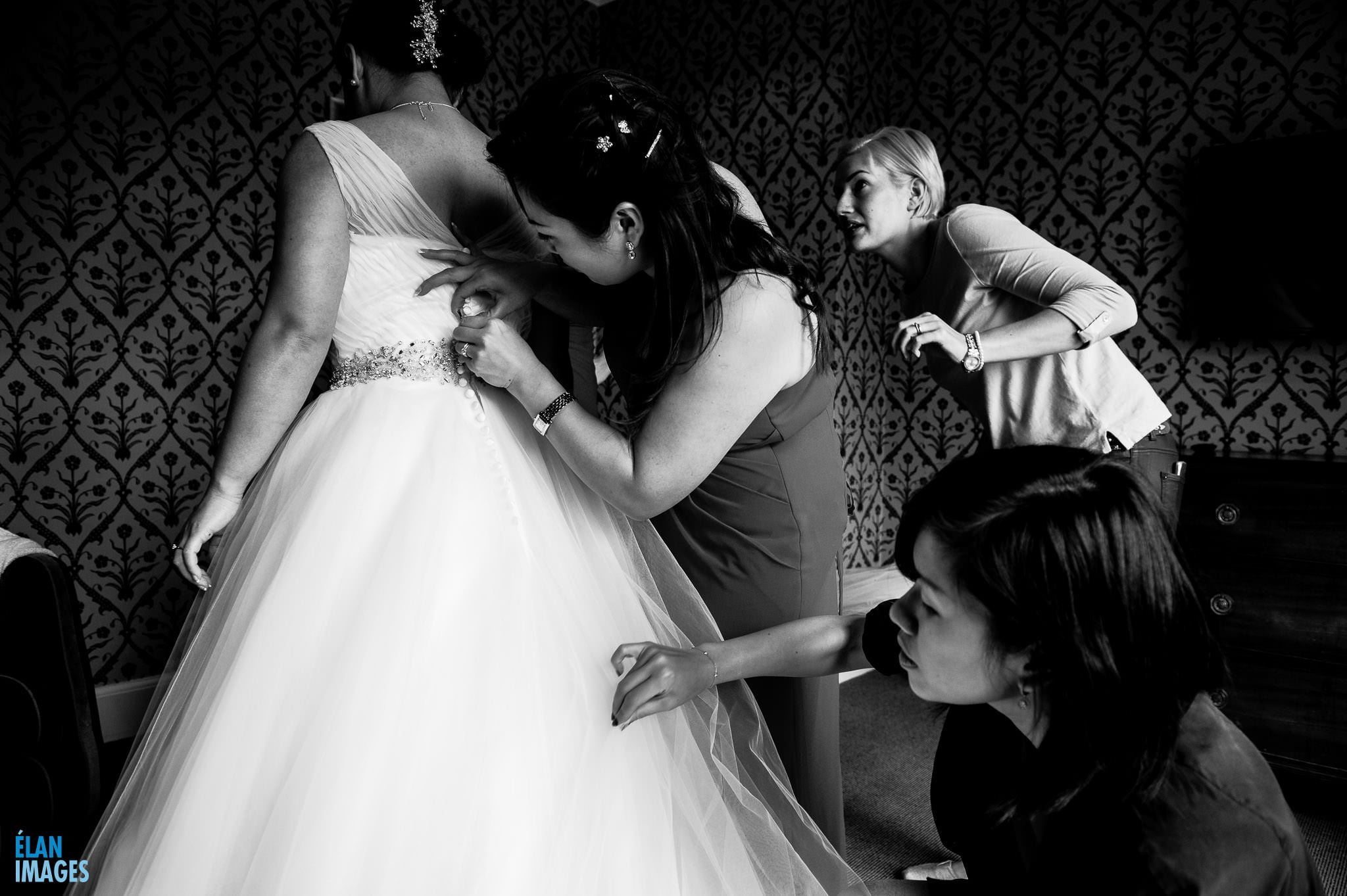 Homewood Park Wedding near Bath - Award Winning Wedding Photograph Bride Getting Ready