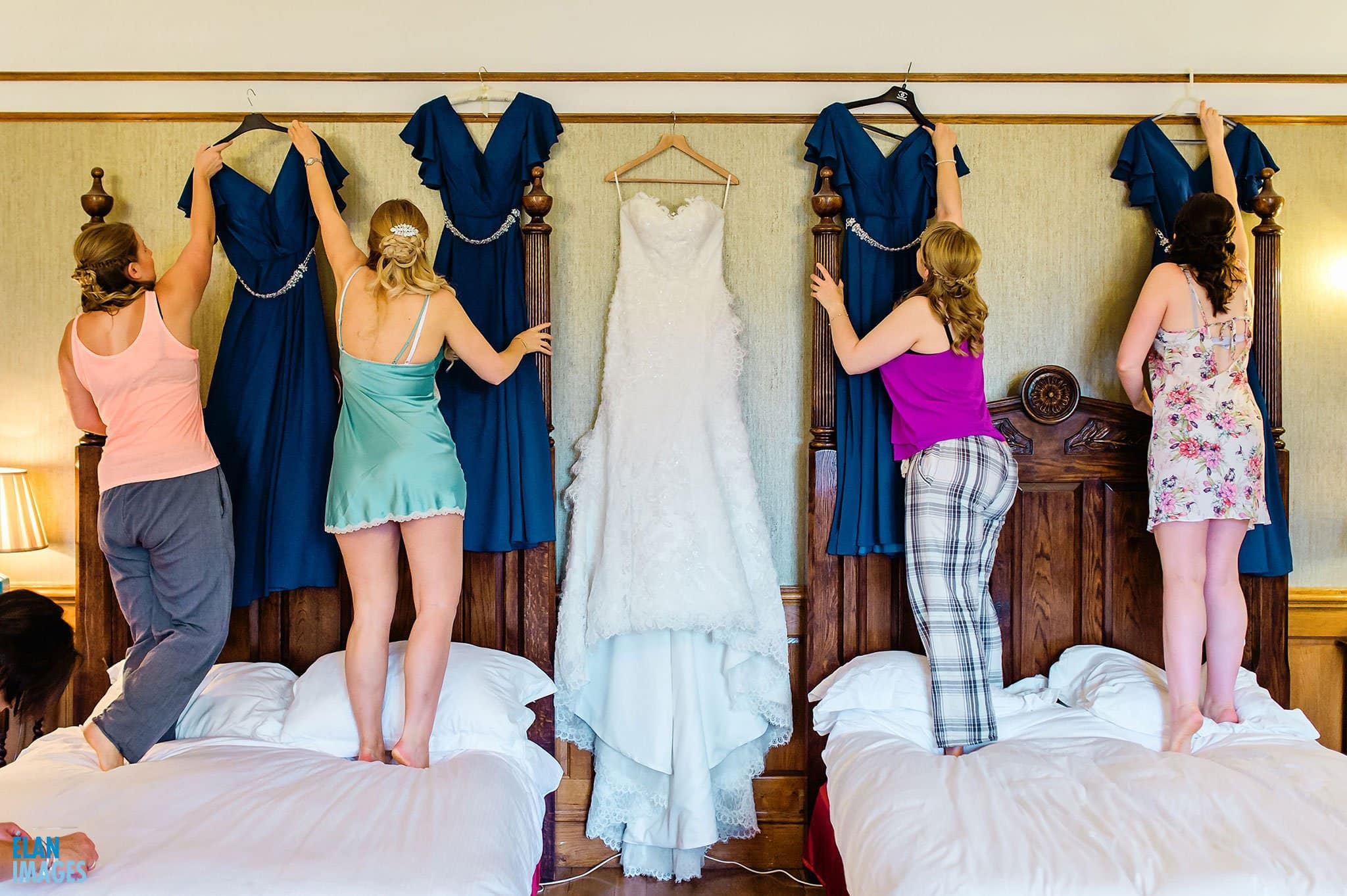 Bridesmaids-Getting-Ready-at-Lainston-House-Winchester-Wedding