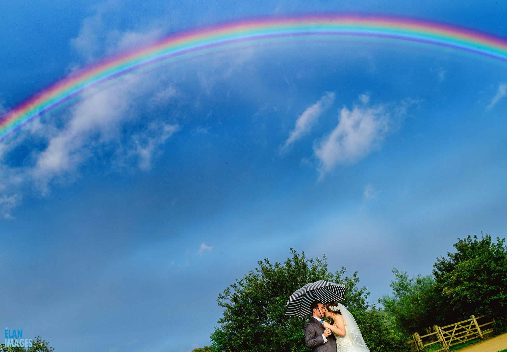 Rainbow-at-a-wedding-folly-farm-centre-bristol