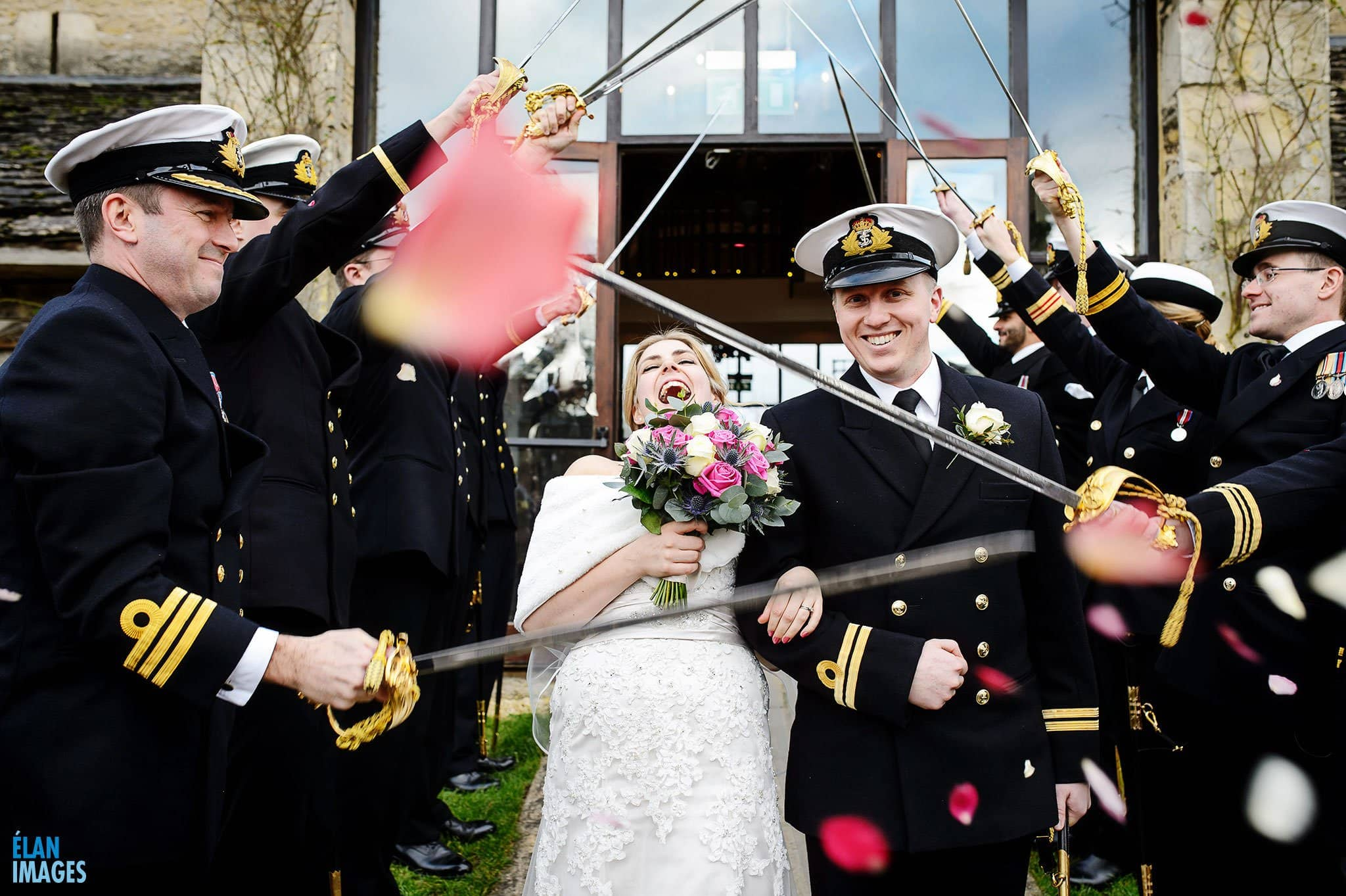 Royal-Navy-Sword-Arch-Wedding-Photo