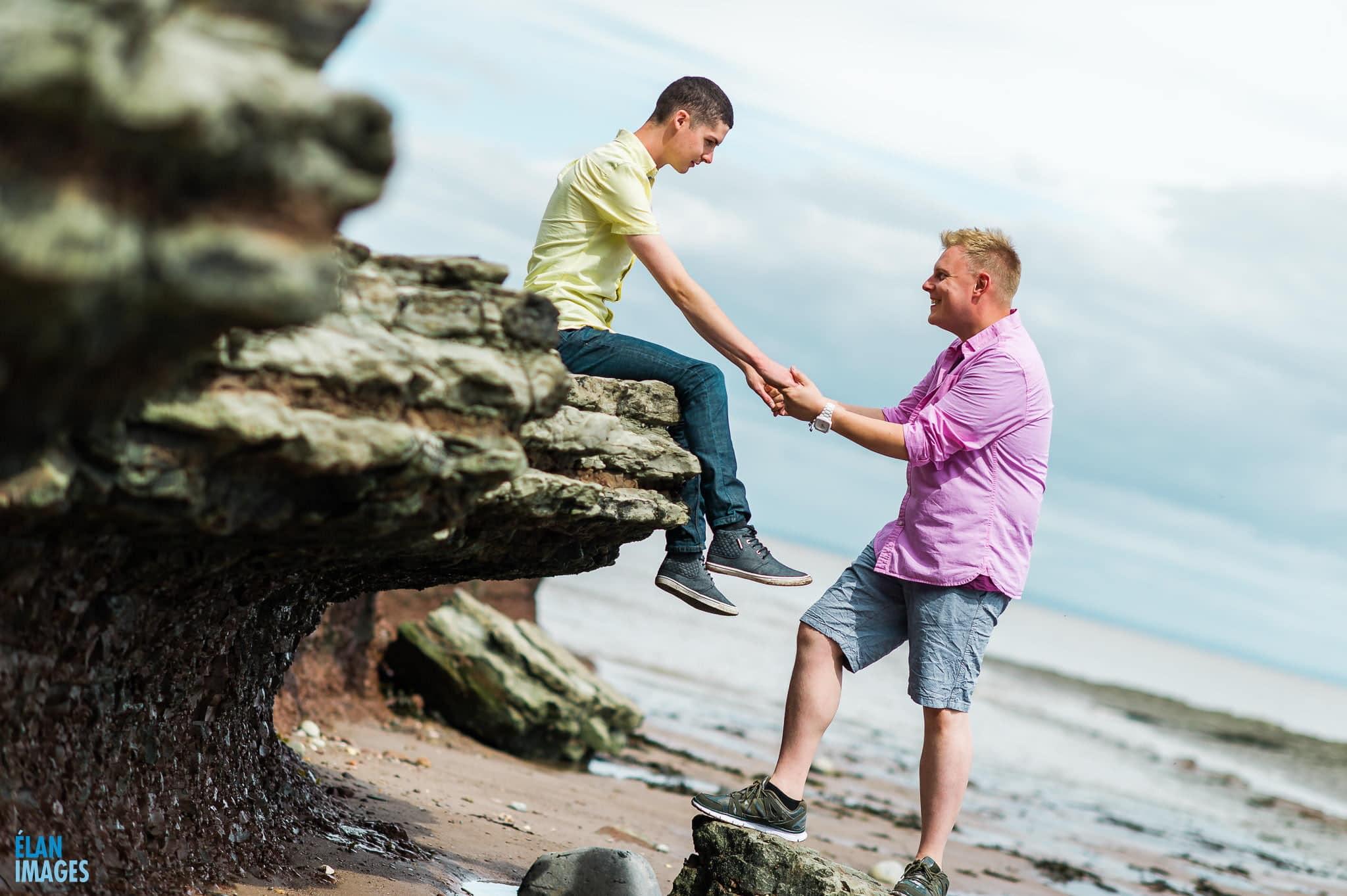Engagement photo shoot at St Audrie's Bay, Devon 6