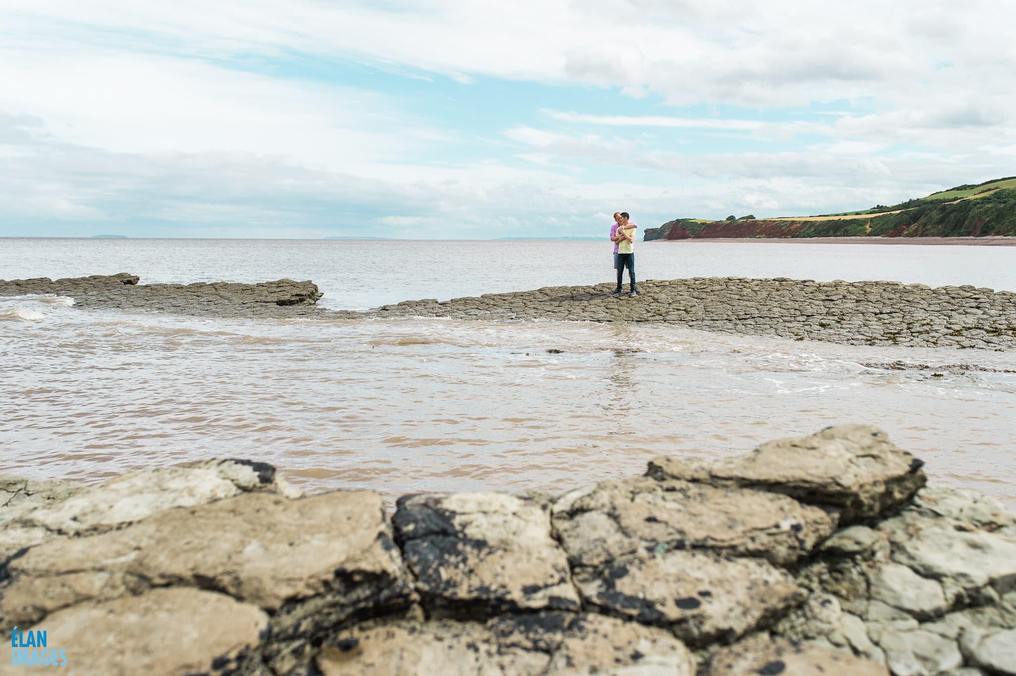 Engagement photo shoot at St Audrie's Bay, Devon 23