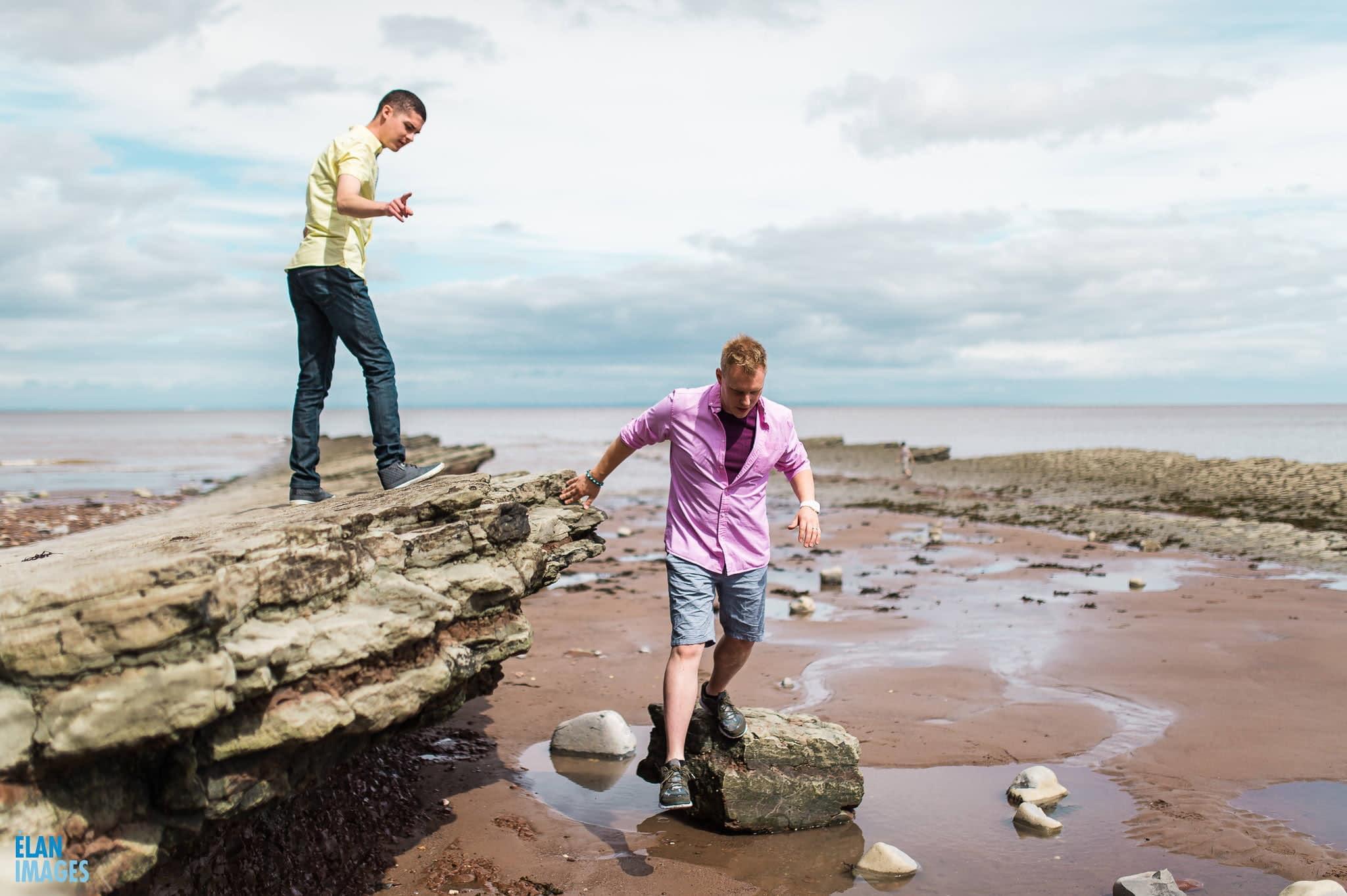 Engagement photo shoot at St Audrie's Bay, Devon 30