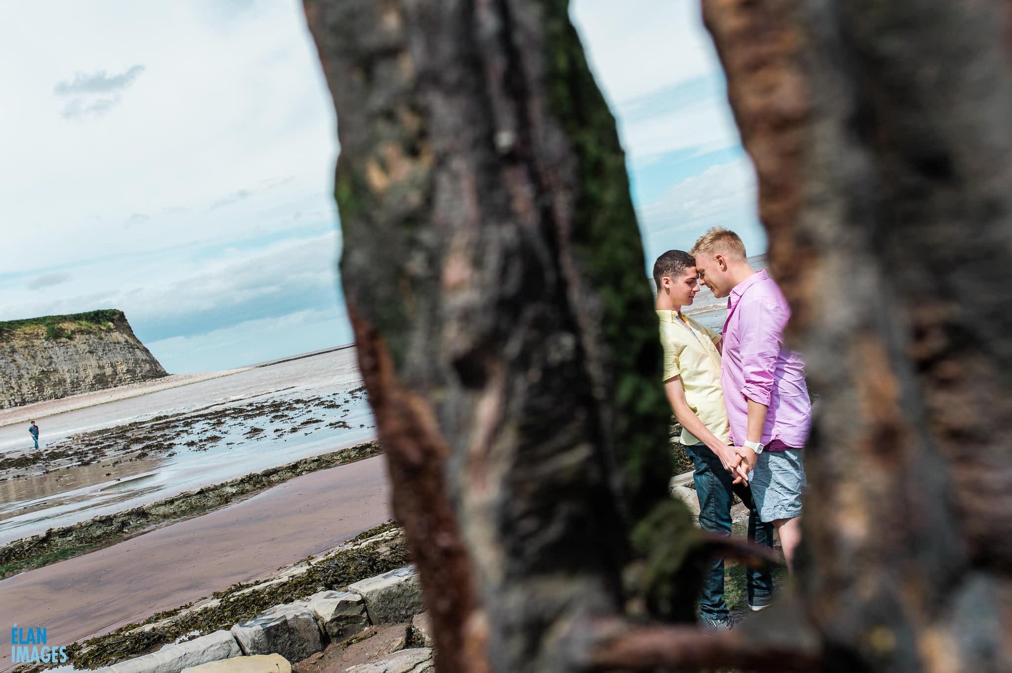 Engagement photo shoot at St Audrie's Bay, Devon 35