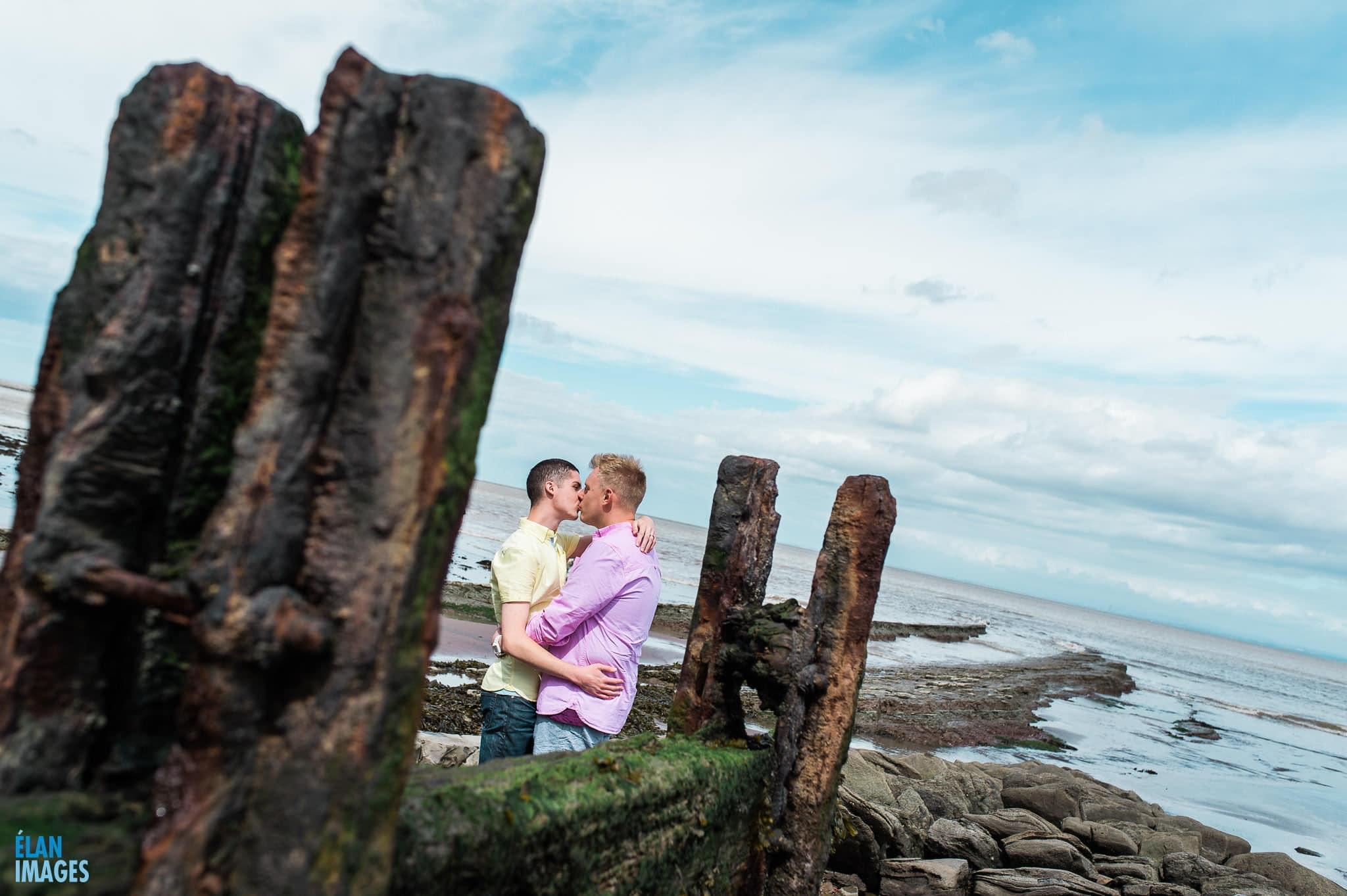 Engagement photo shoot at St Audrie's Bay, Devon 36