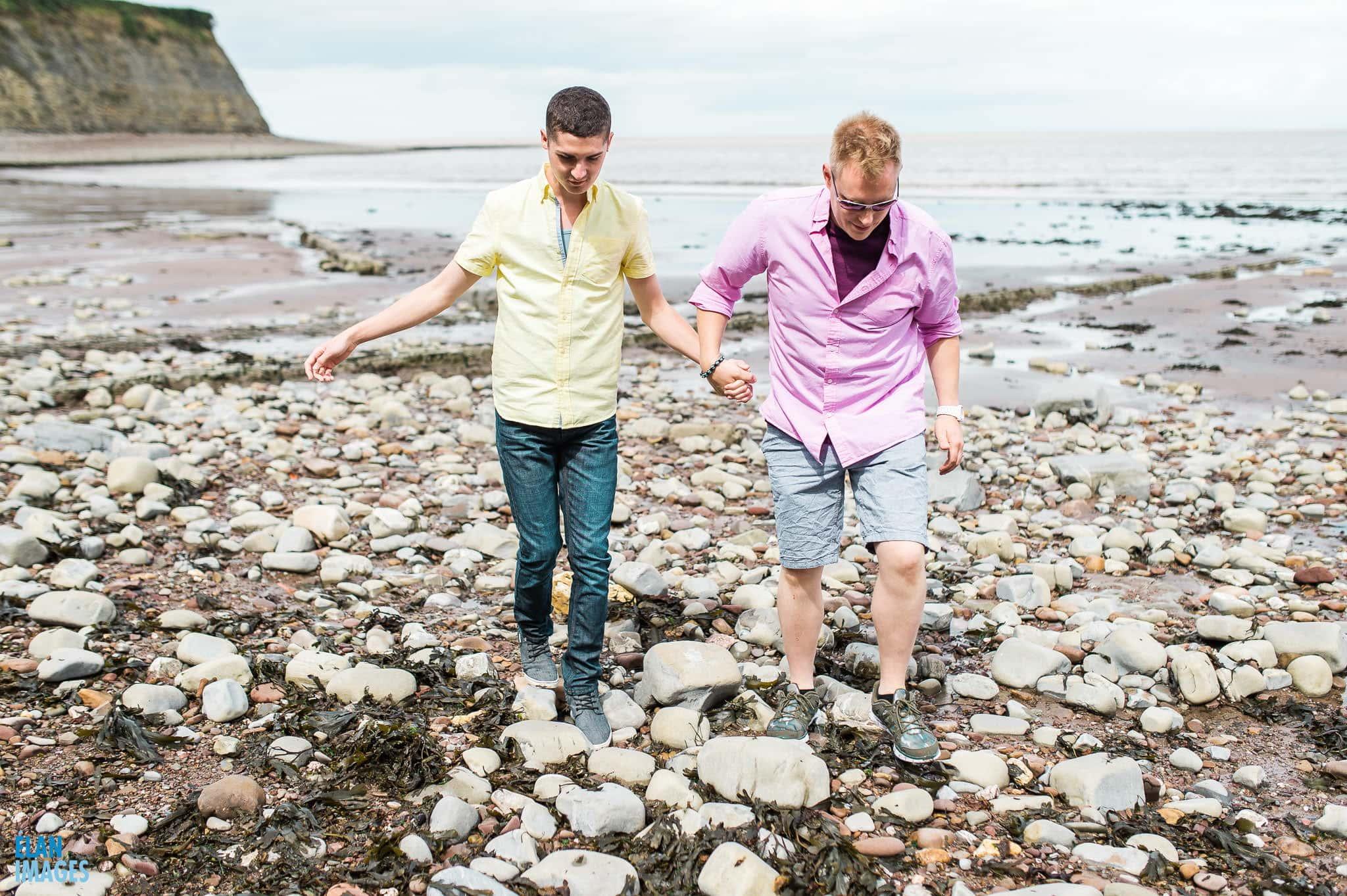 Engagement photo shoot at St Audrie's Bay, Devon 37