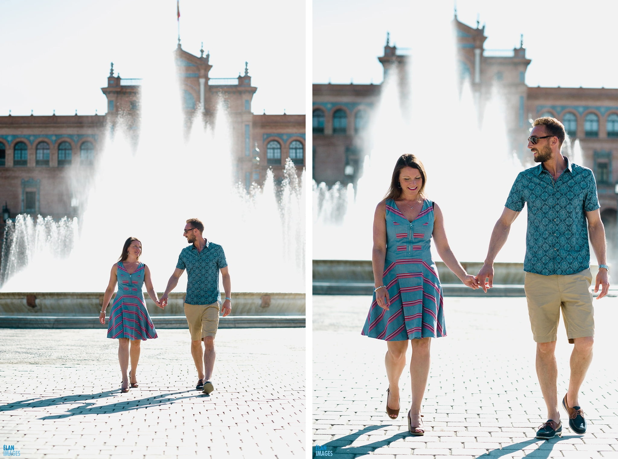 Plaza de España, Seville – Engagement Photo Shoot 1