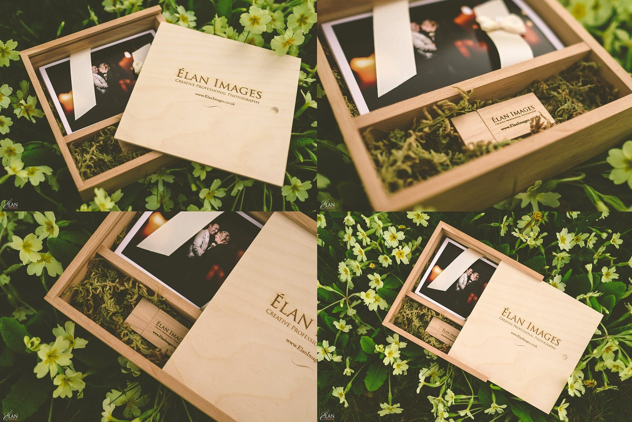 Wooden Wedding USB and Prints Box