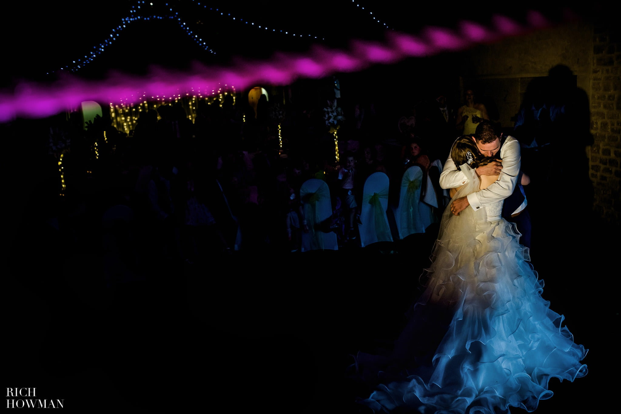First dance at a wedding at Haselbury Mill